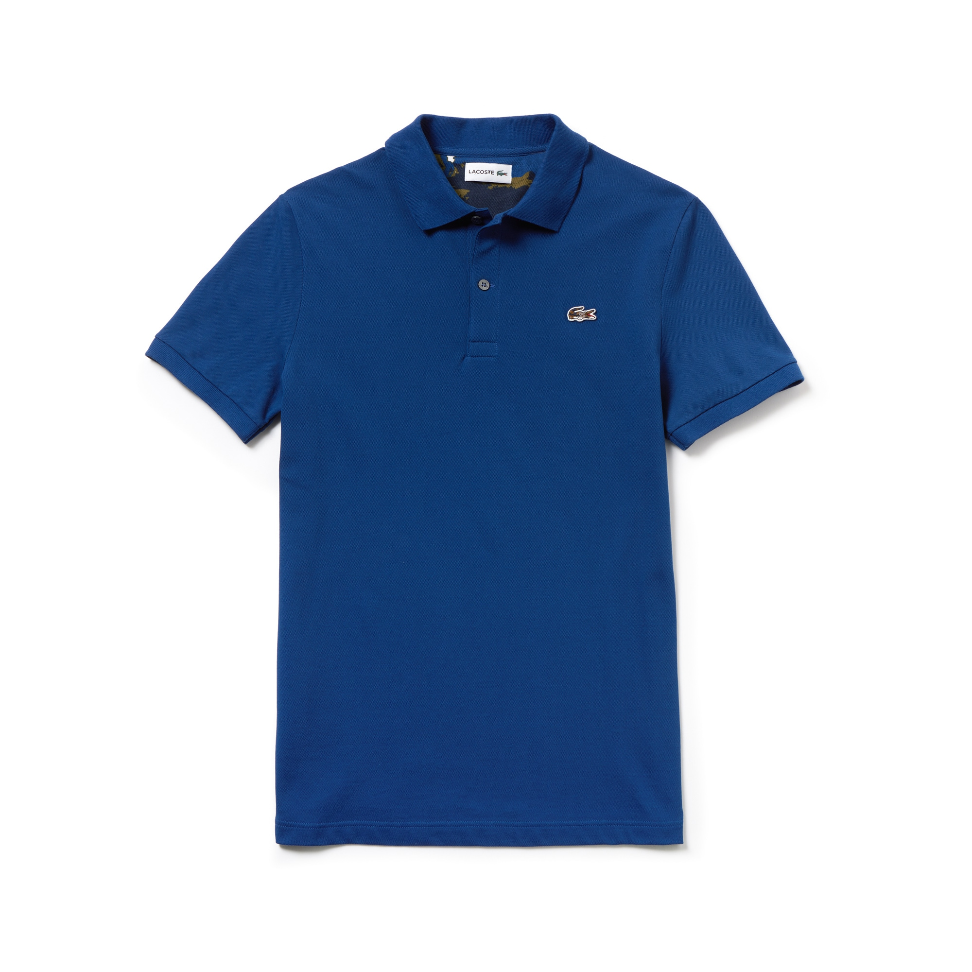 Mens 라코스테 Lacoste Slim Fit Stretch Mini Pique Polo,inkwell blue