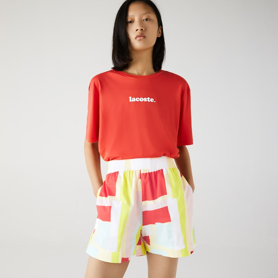 Women's Abstract-Print Cotton Poplin Shorts