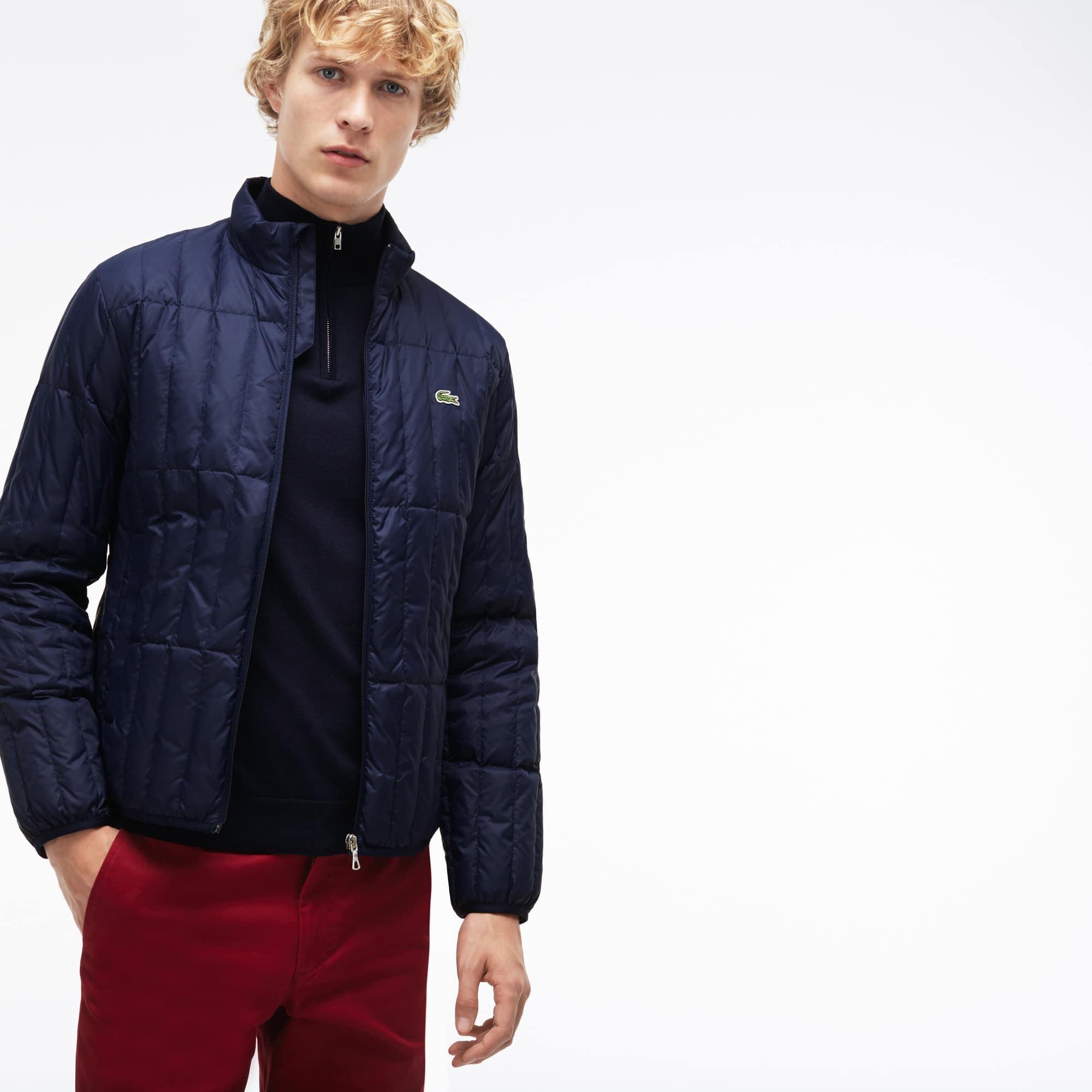 Men's Lightweight Built-in Hood Quilted Down Packable Jacket