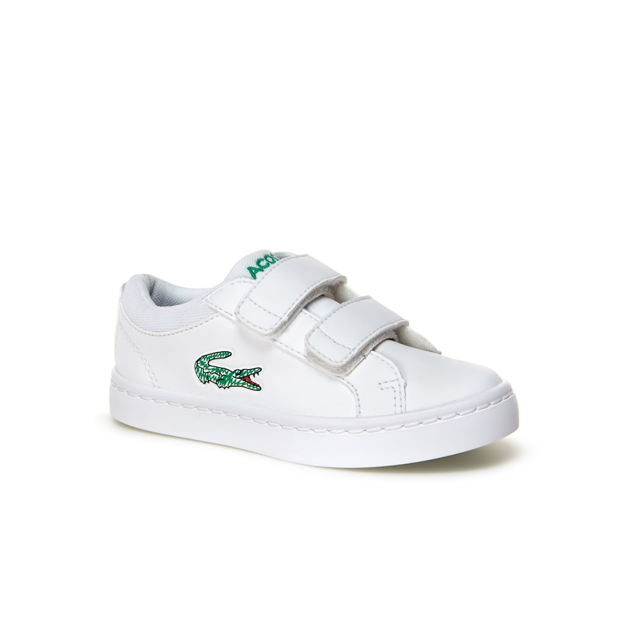 Infant Straightset Lace Leather-look Trainers