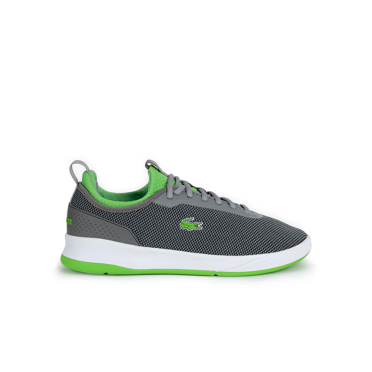 7c3246bac Lacoste Men s Lt Spirit 2.0 Textile Sneakers In Grey Green