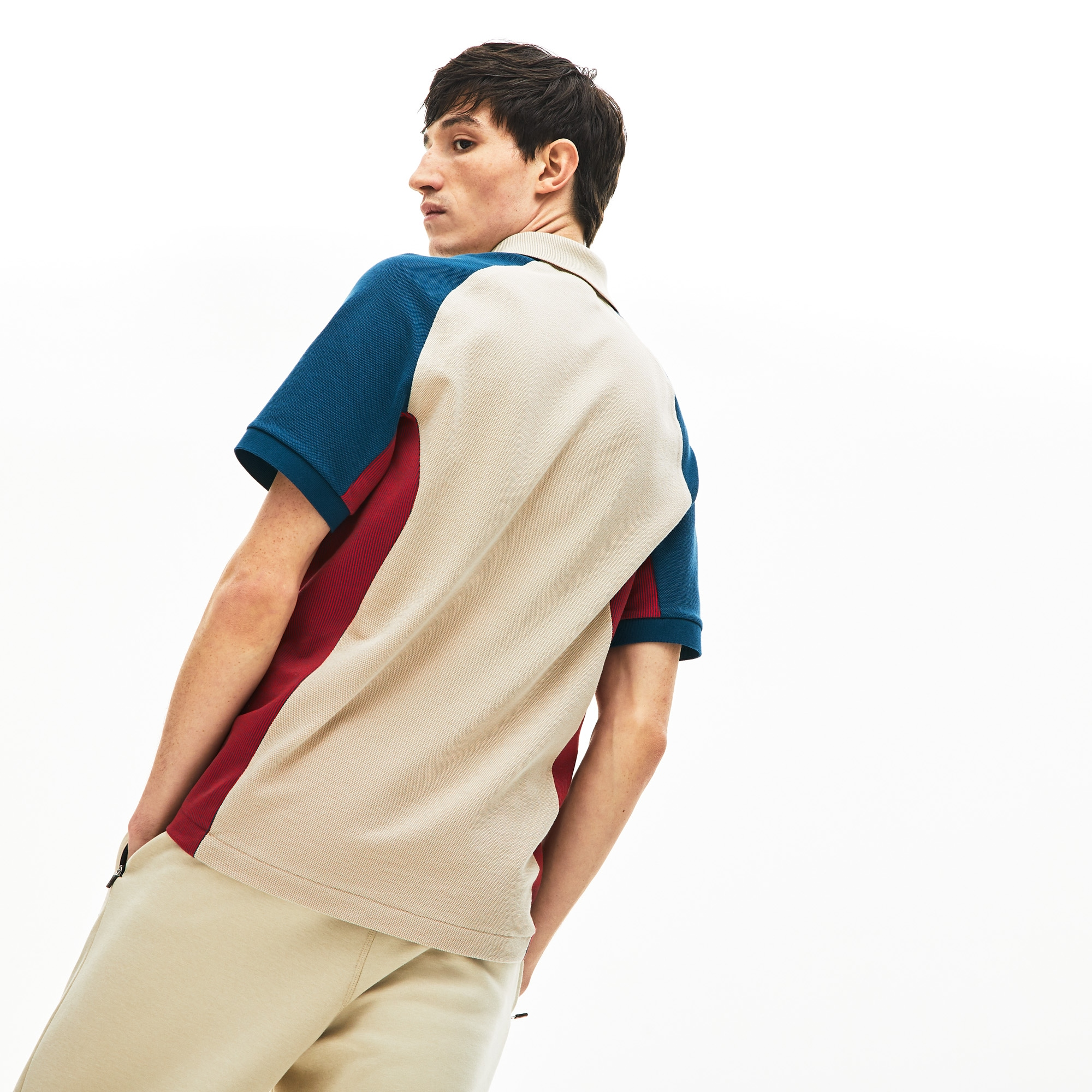 Men's Colorblock Piqué Polo Shirt