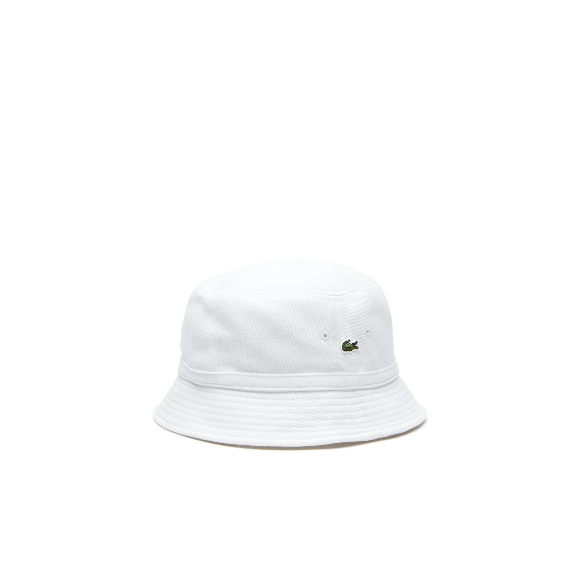 Lacoste Men S Cotton PiquÉ Bucket Hat In White  9a46ca20b891