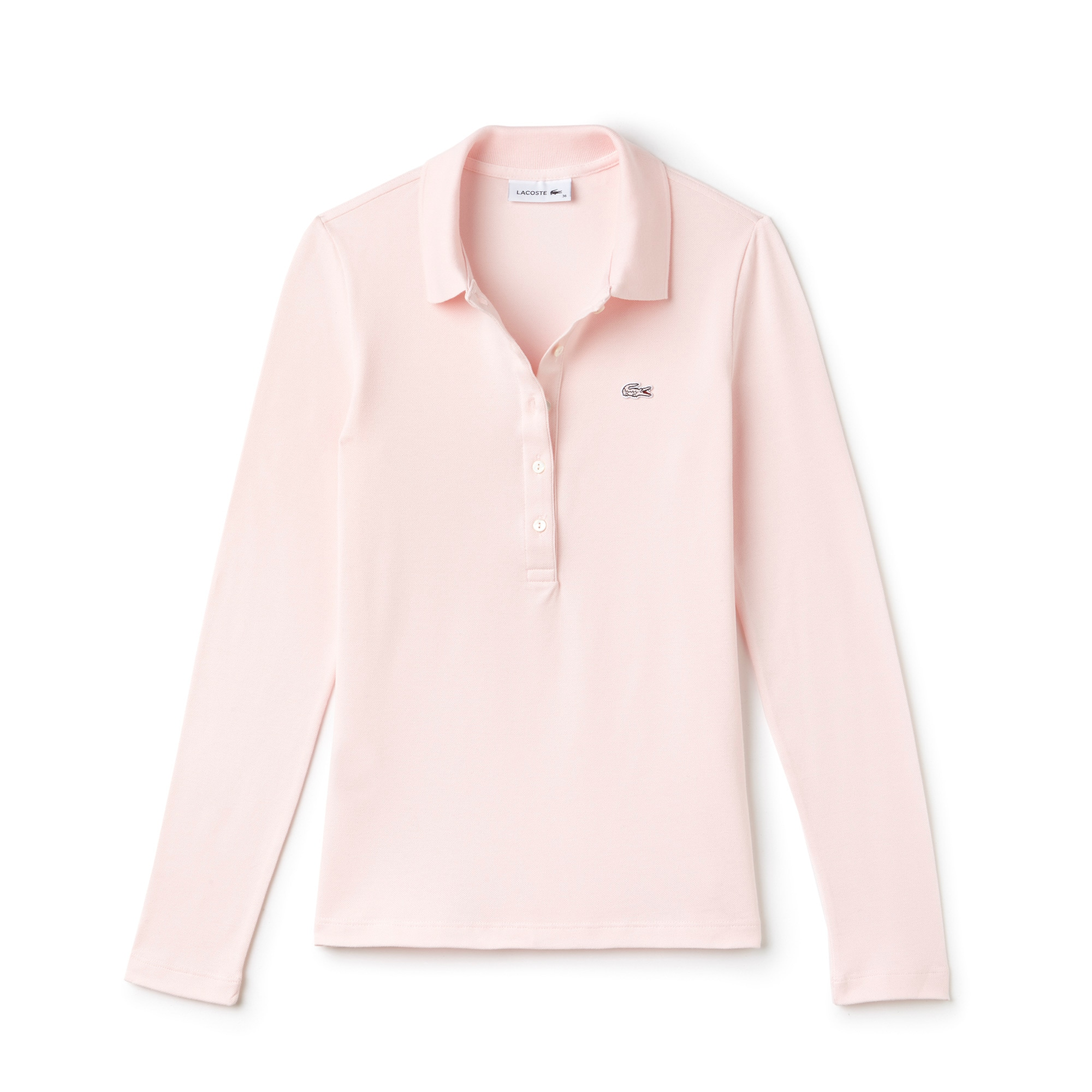 Women's  Slim Fit Stretch Mini Piqué Polo Shirt