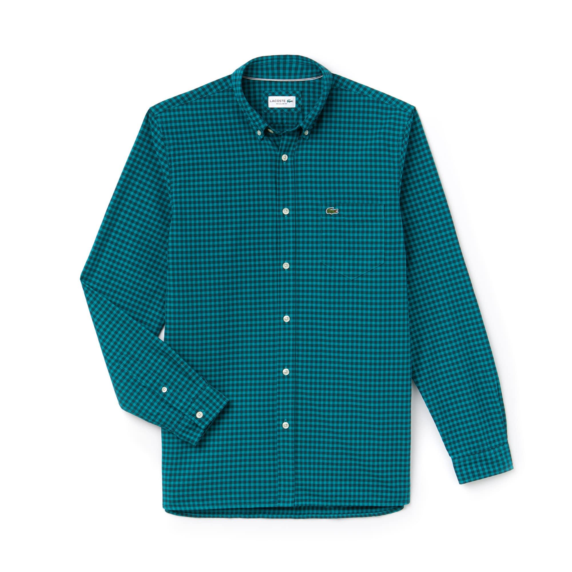Men's Regular Fit Gingham Oxford Cotton Shirt