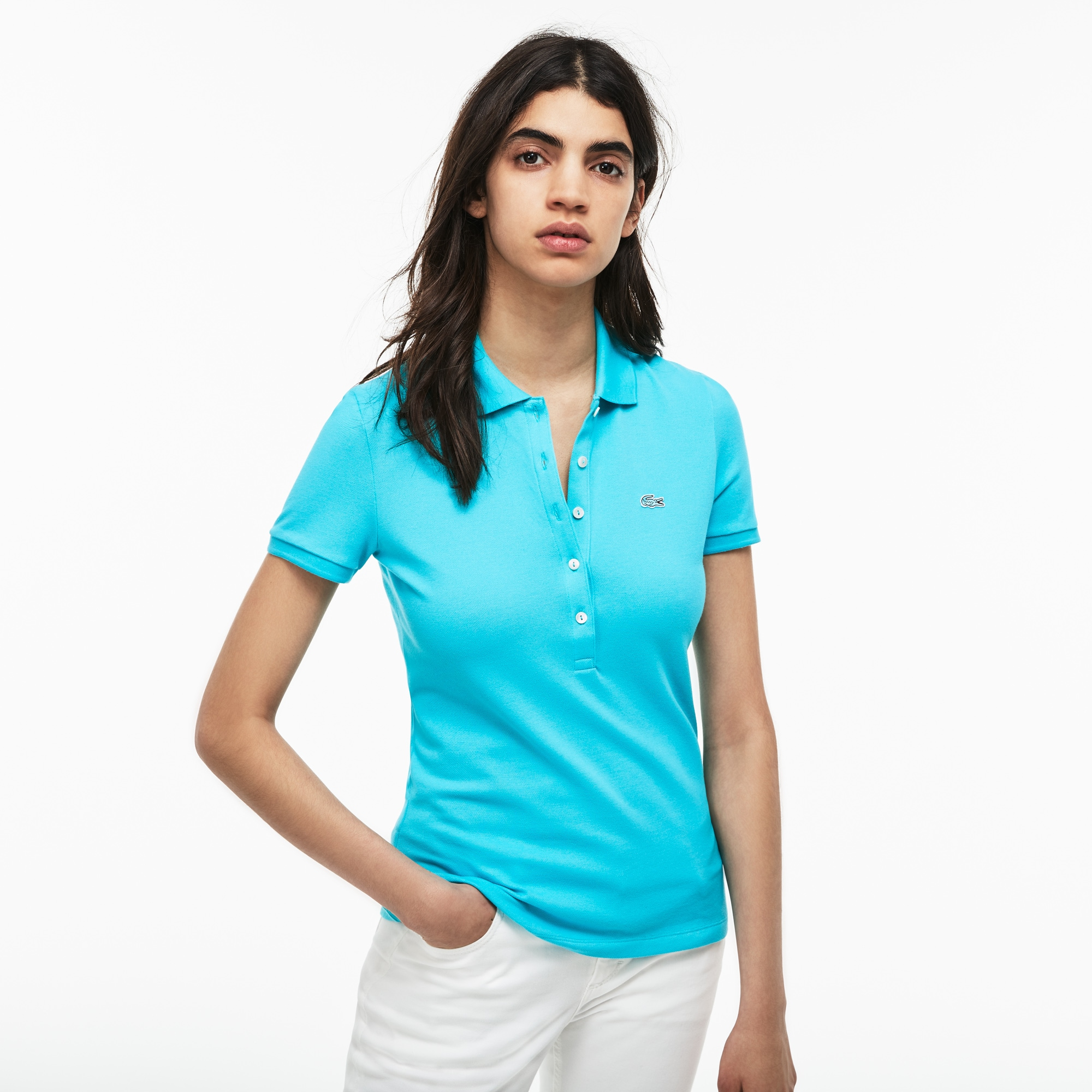 Women's Slim Fit Stretch Piqué Polo