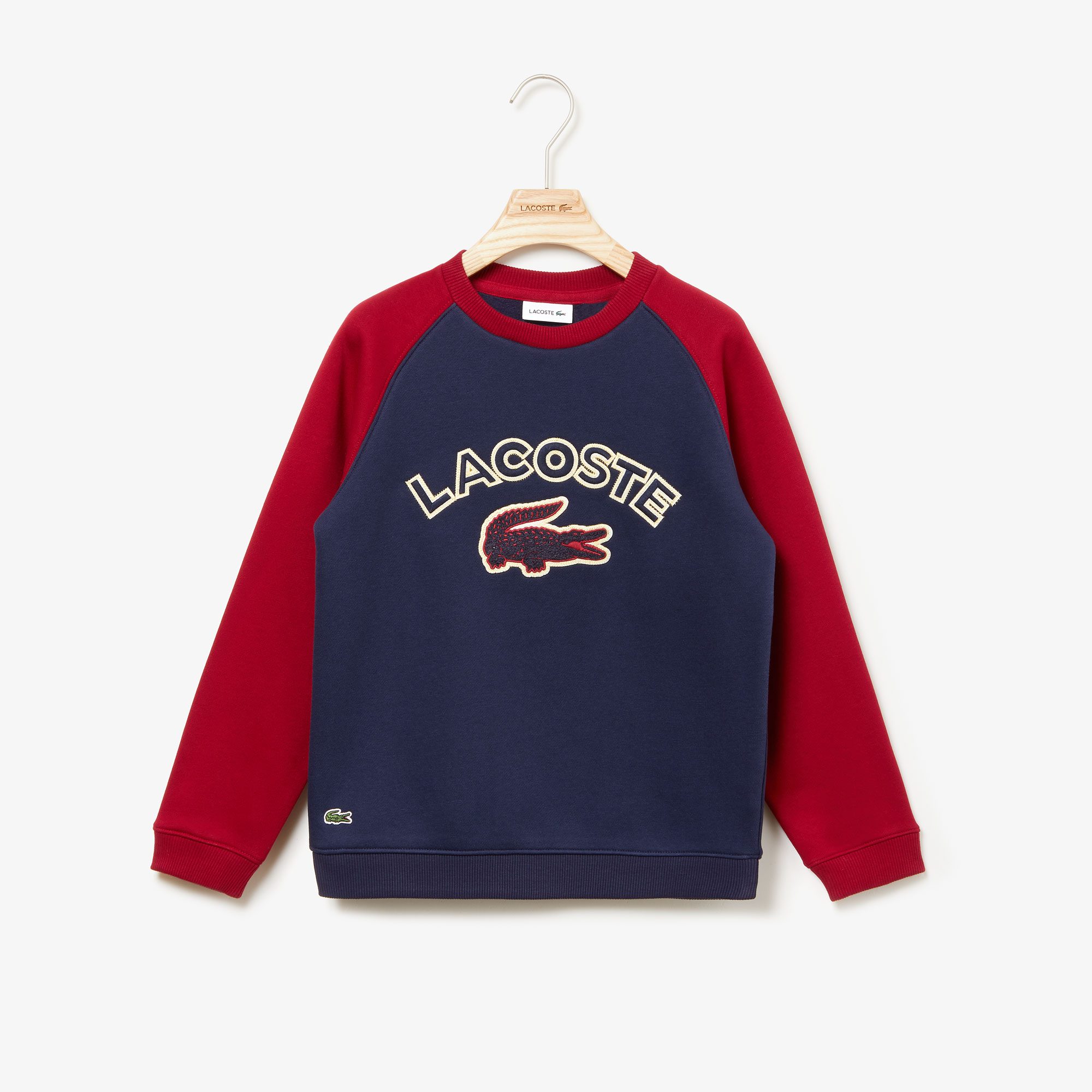 Boys' Croc Patch Color-Block Fleece Sweatshirt