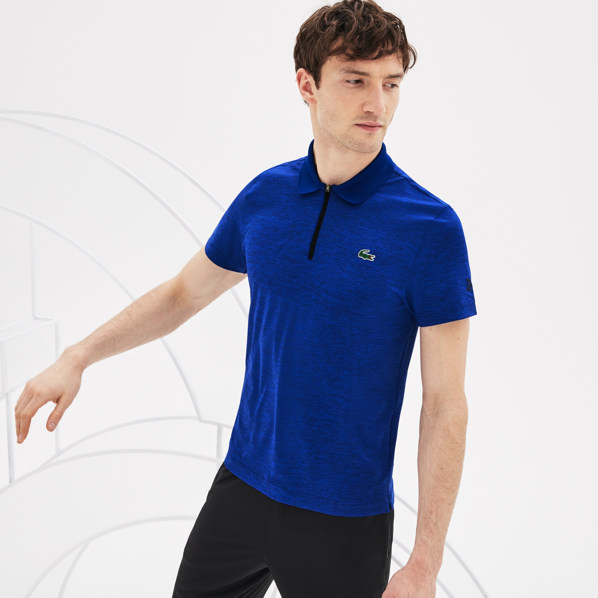 Polo col zippé SPORT Collection Novak Djokovic en jersey chiné