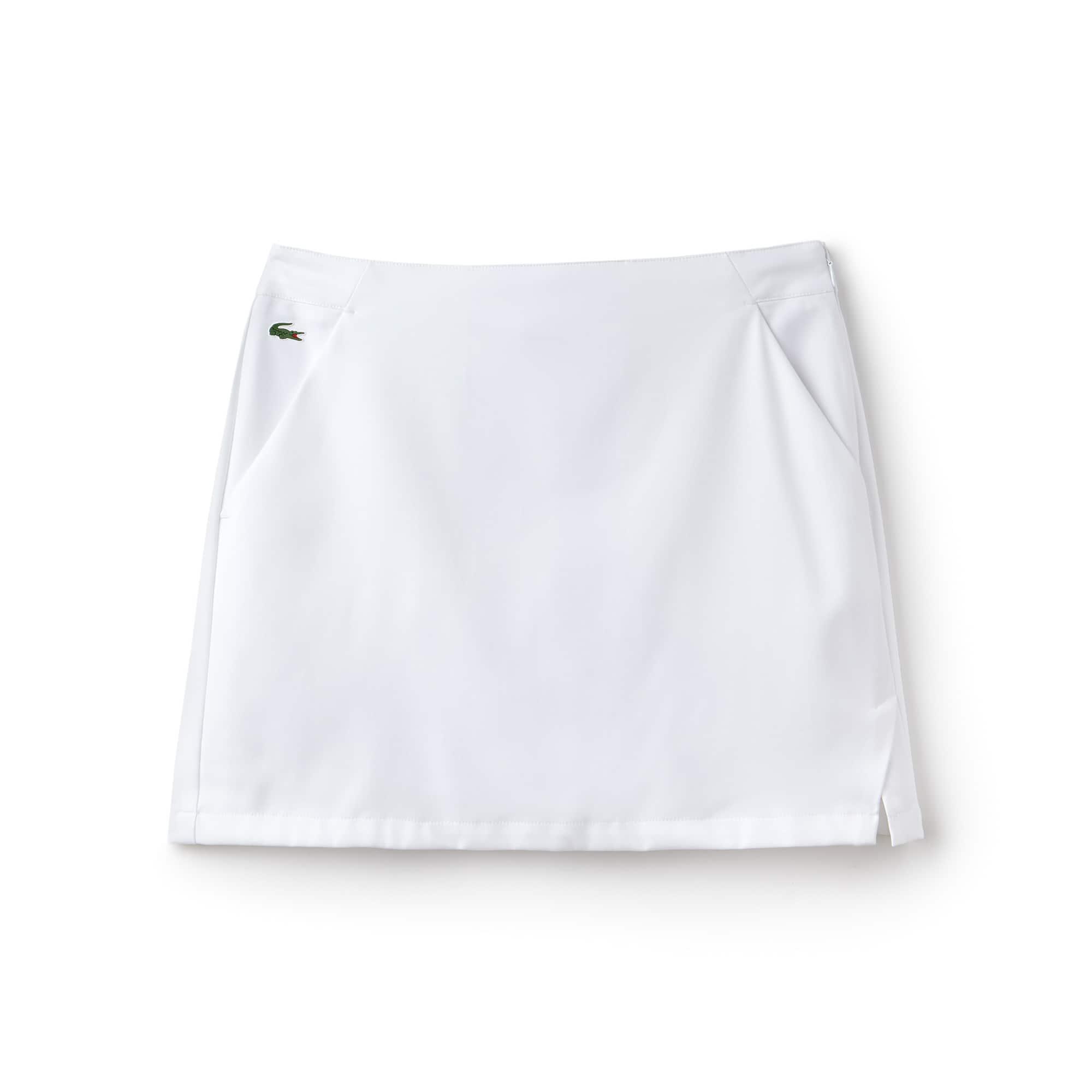라코스테 Lacoste Womens SPORT Technical Gabardine Golf Skirt,white