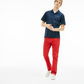 라코스테 치노 팬츠 (슬림핏) Lacoste Mens Slim Fit Stretch Gabardine Chino Pants,Red