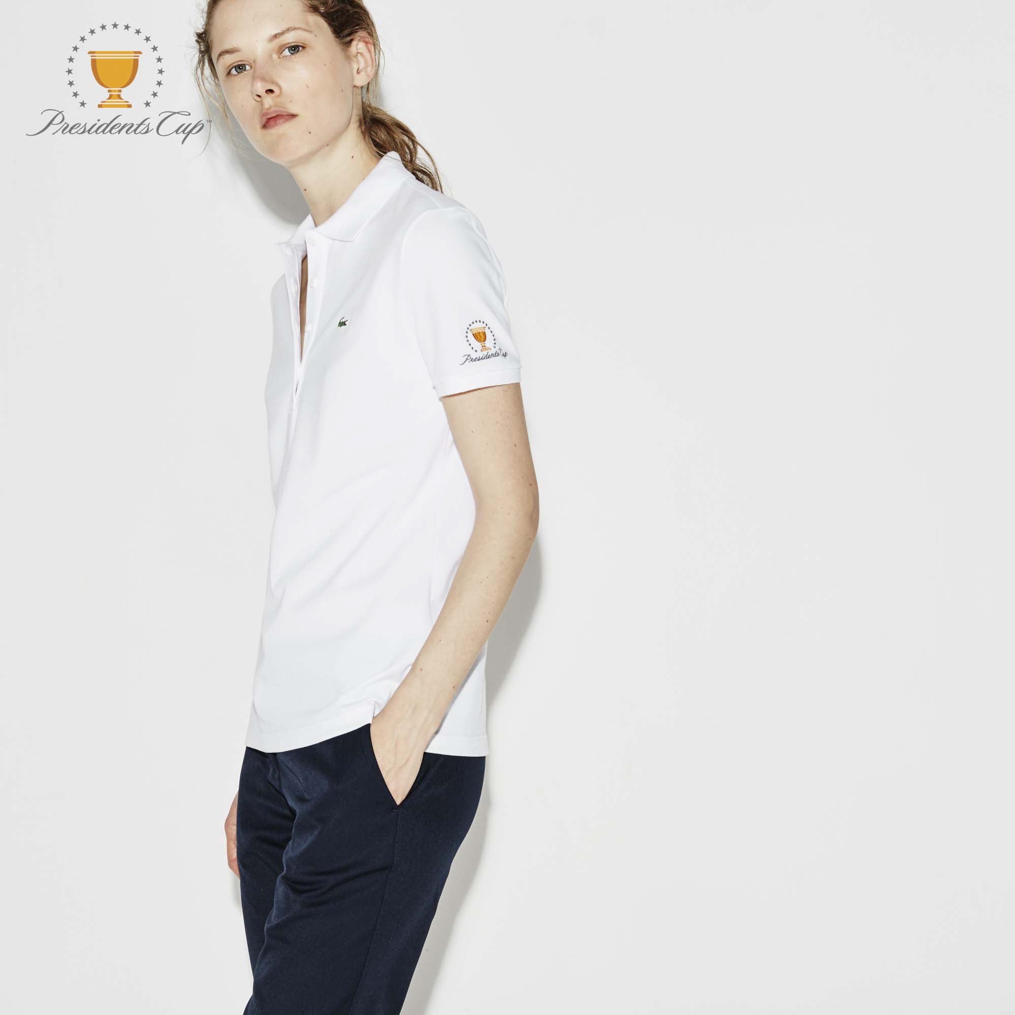 Women's  SPORT Presidents Cup Edition Stretch Piqué Polo