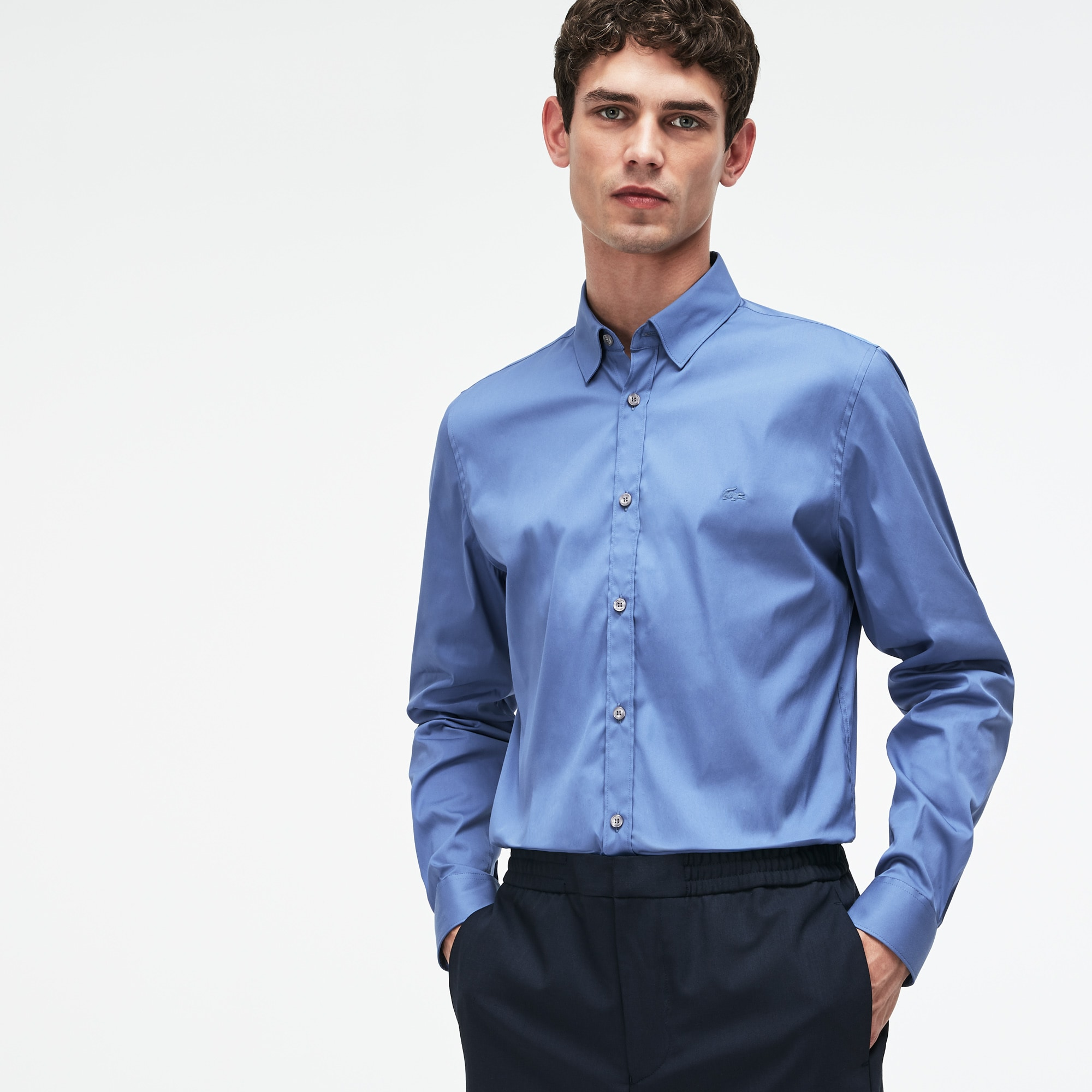 c420050268 Men'S Slim Fit Stretch Cotton Poplin Shirt in Avon