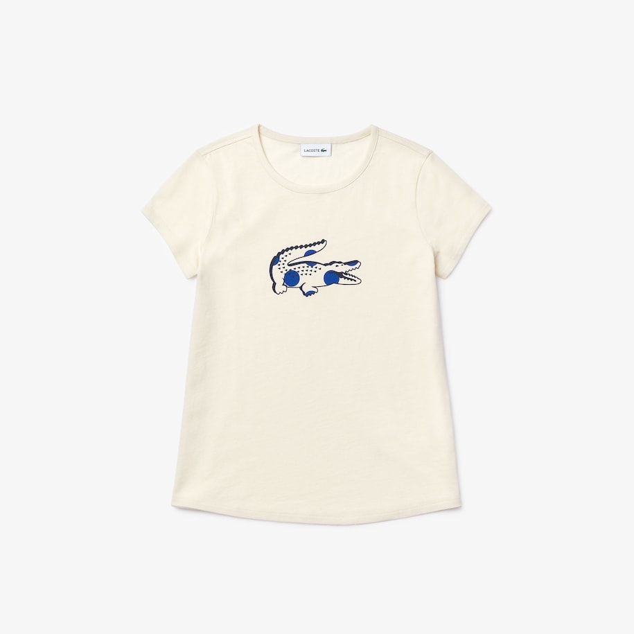 Girls' Oversize Croc Cotton T-shirt with
