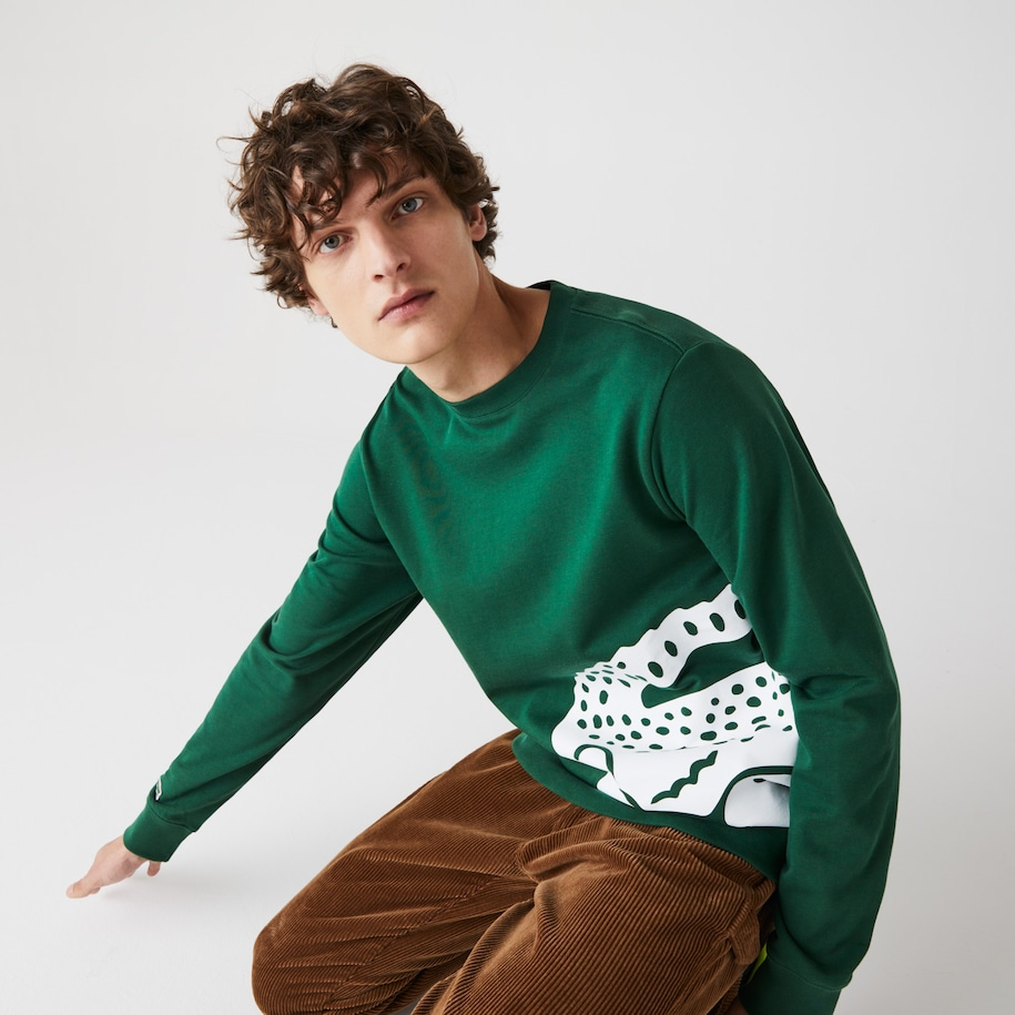 Men's Oversize Croc Crew Neck Cotton Sweatshirt