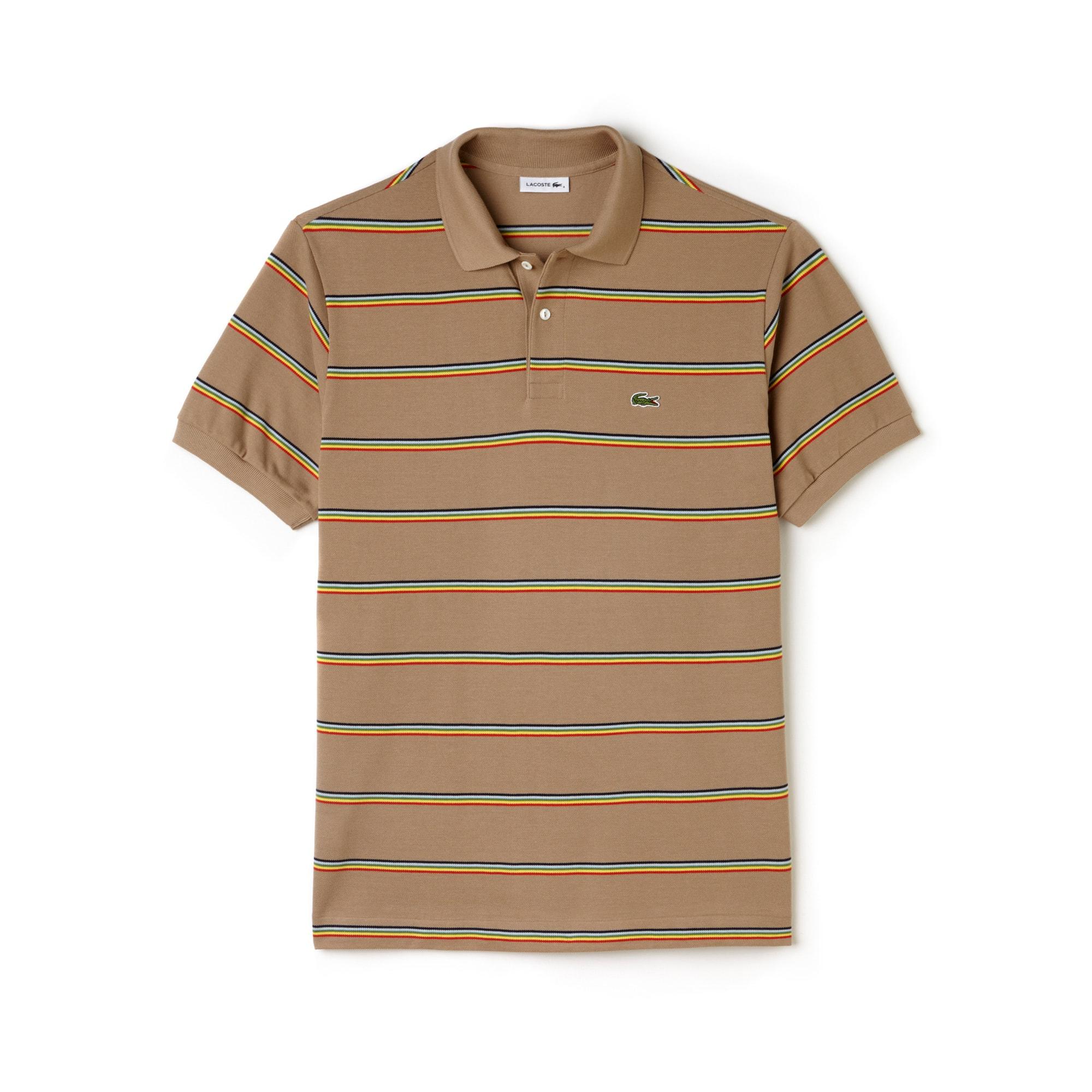 Men's Fashion Show Petit Piqué Oversized Striped Polo Shirt