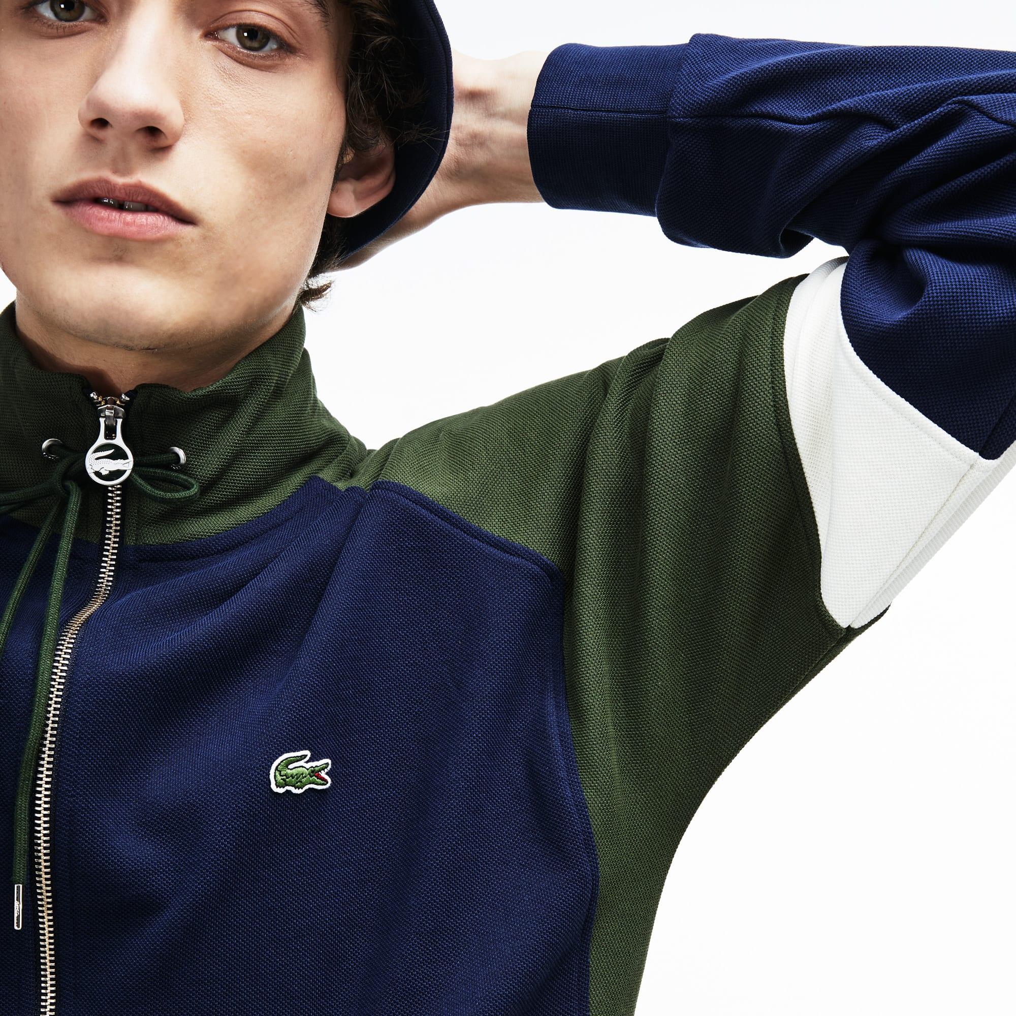 Men's Piqué Fleece Zip Sweatshirt