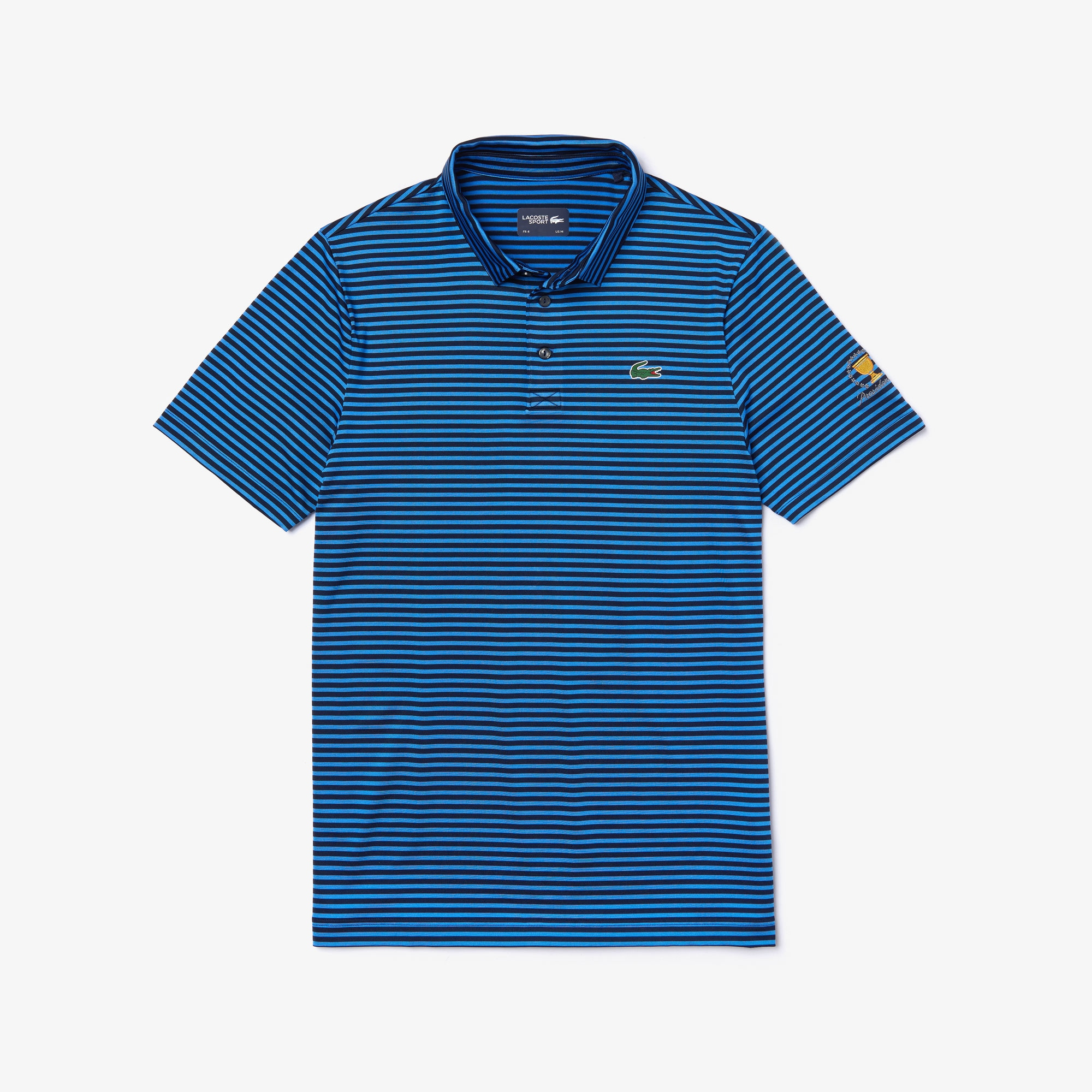 Lacoste Tops Men's Presidents Cup Pinstriped Breathable Jersey Golf Polo