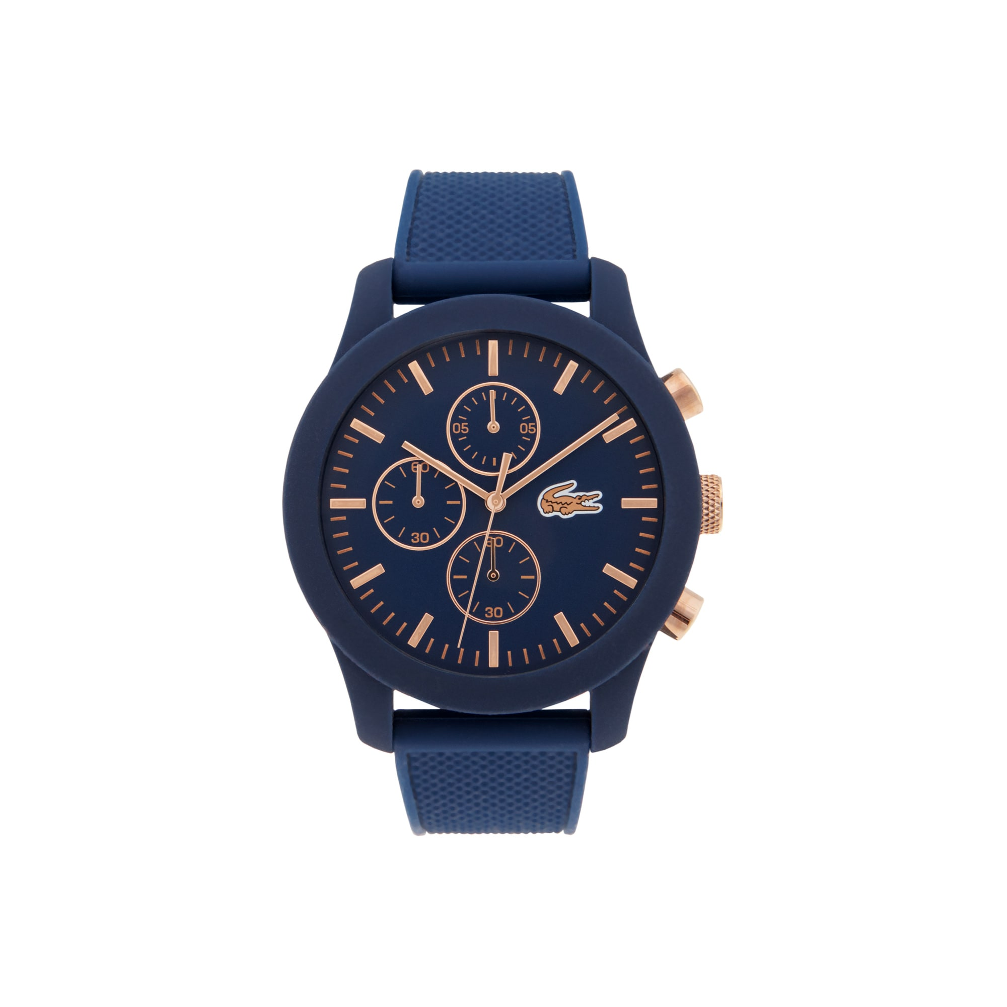 Men's Lacoste 12.12 Watch with Blue Silicone Strap ...