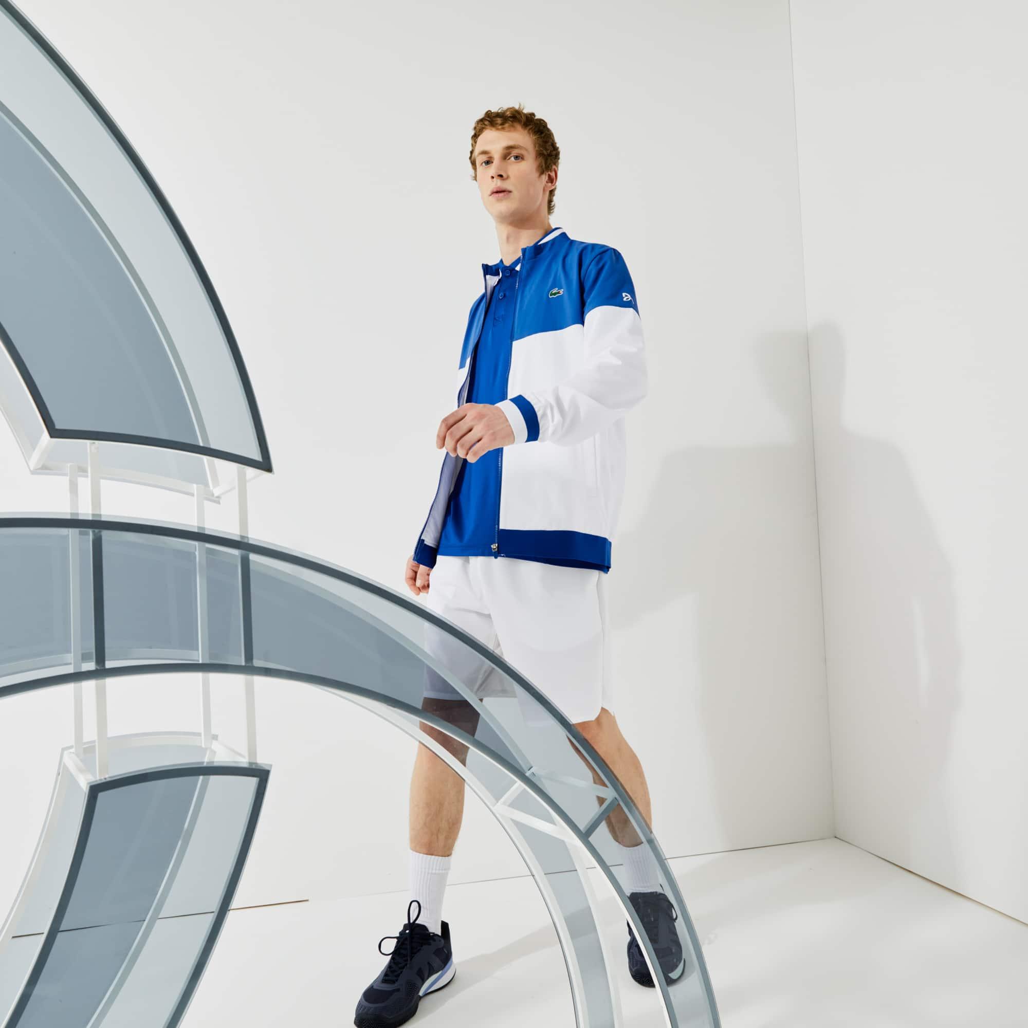 라코스테 X 노박 조코비치 컬러블록 자켓 Lacoste Men's SPORT x Novak Djokovic Colorblock Zip Jacket
