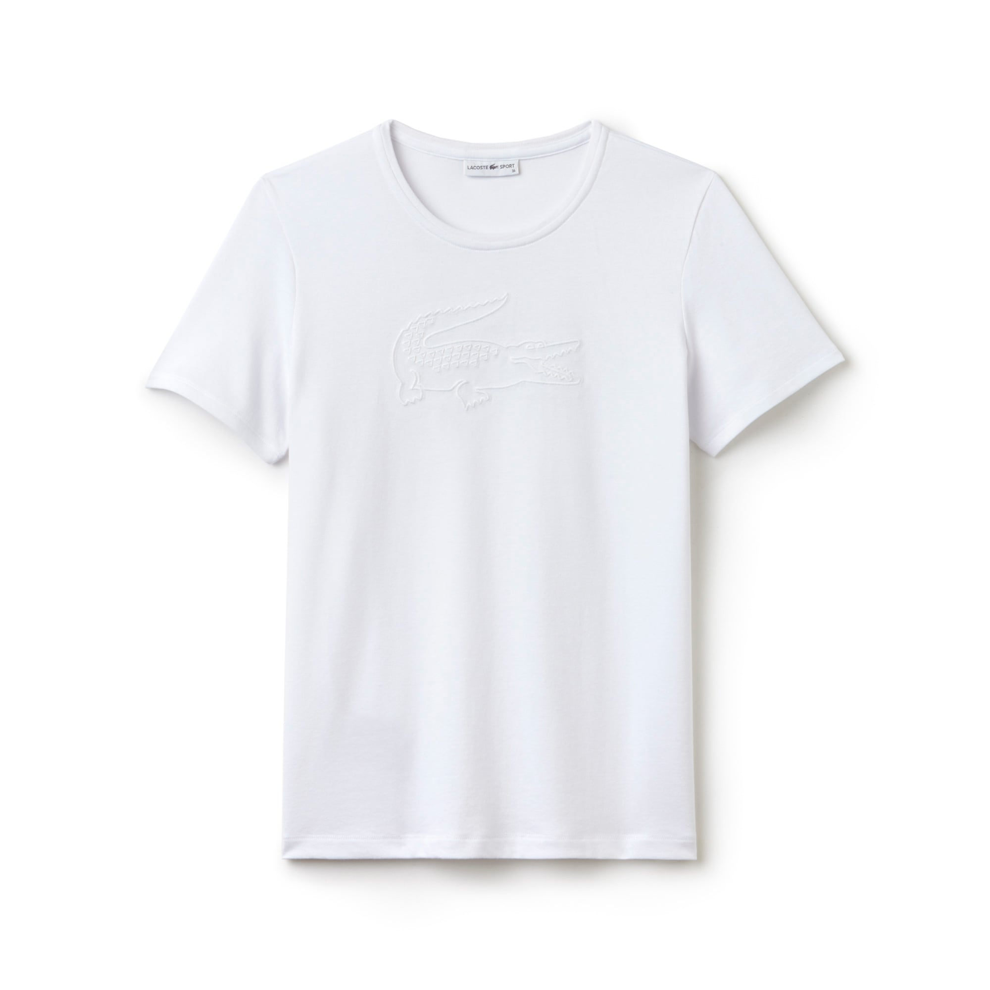 Women's  SPORT Tennis Croc Embroidery Tech Jersey T-shirt