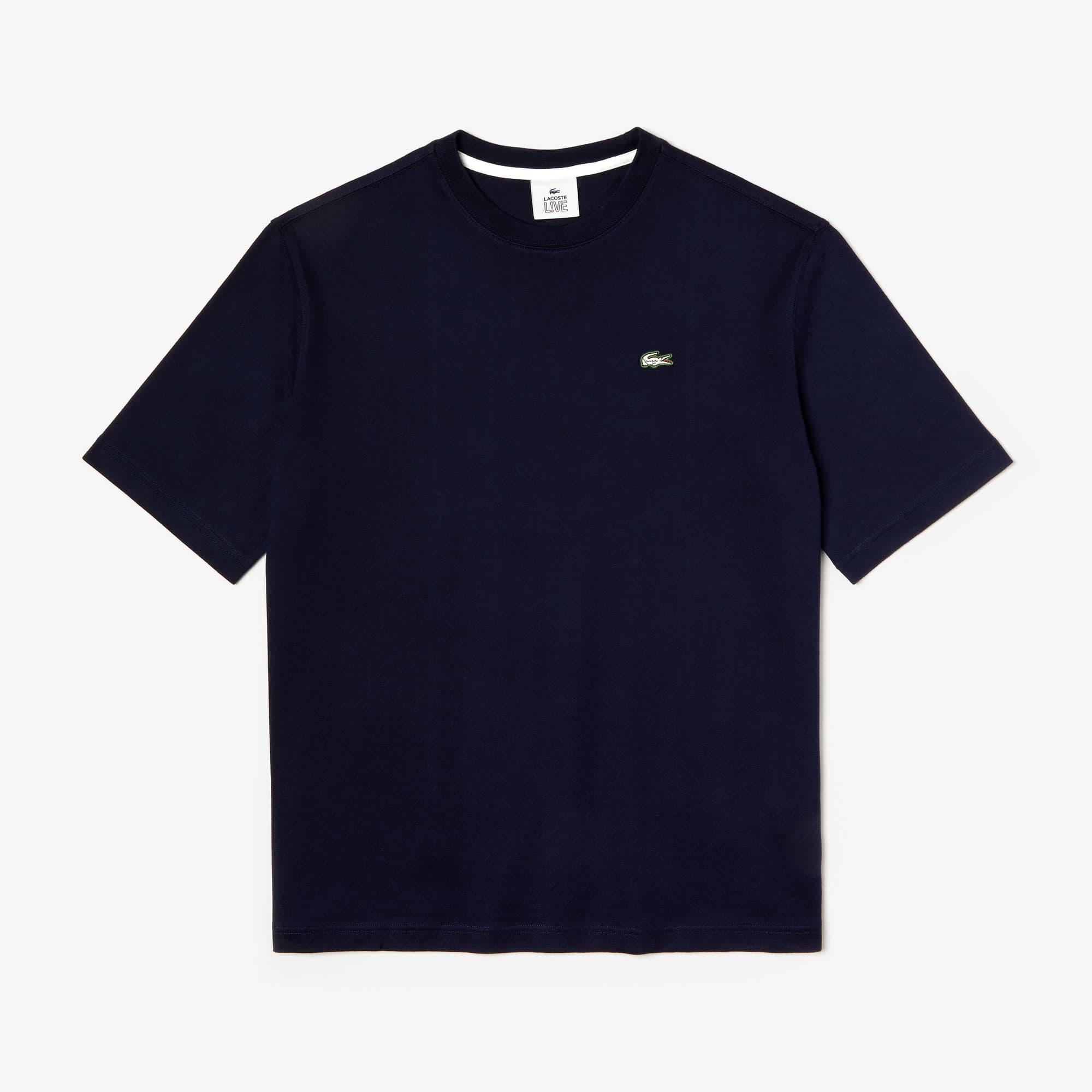 Lacoste Tops Men's LIVE Loose-Fit Cotton T-shirt
