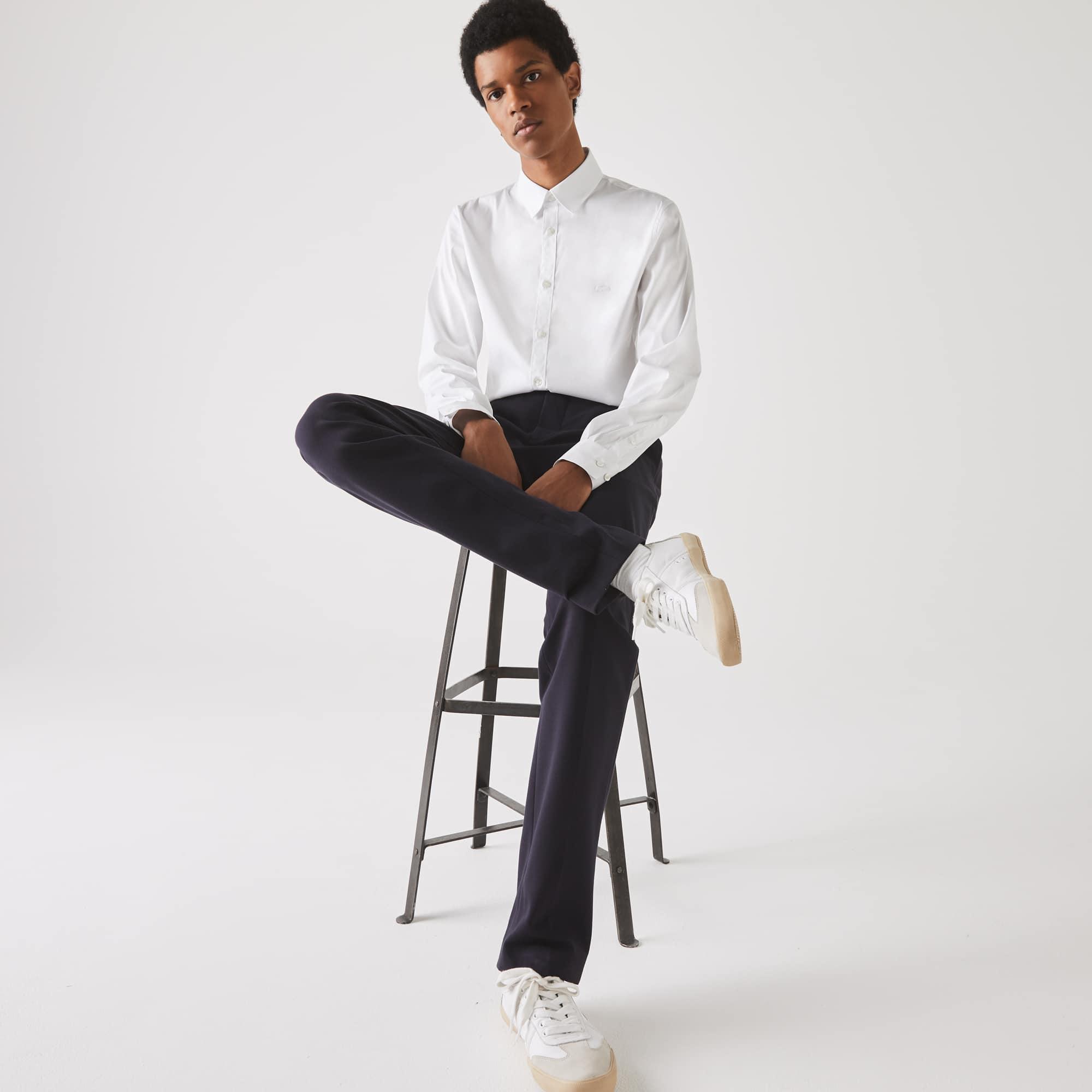 Lacoste Tops Men's Slim Fit Stretch Cotton Poplin Shirt