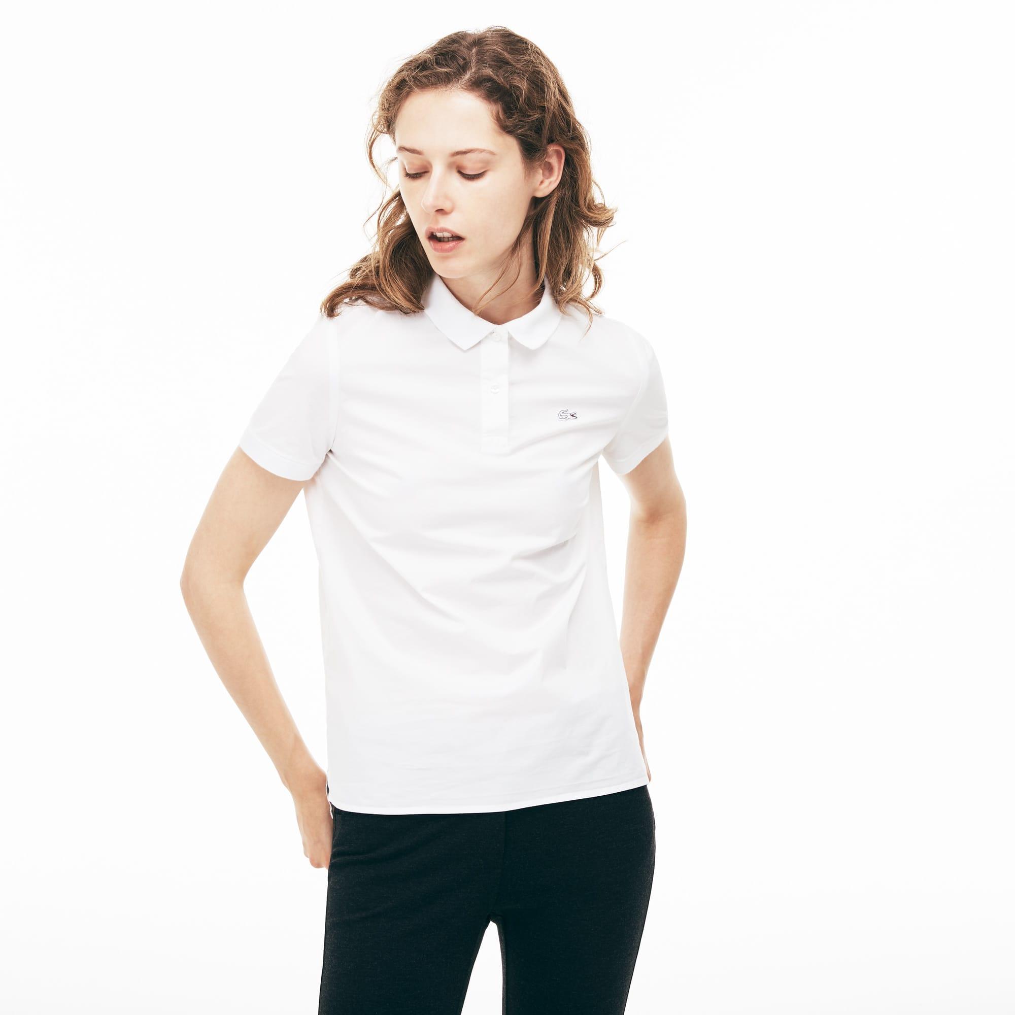 Women's Regular Fit Stretch Poplin Polo