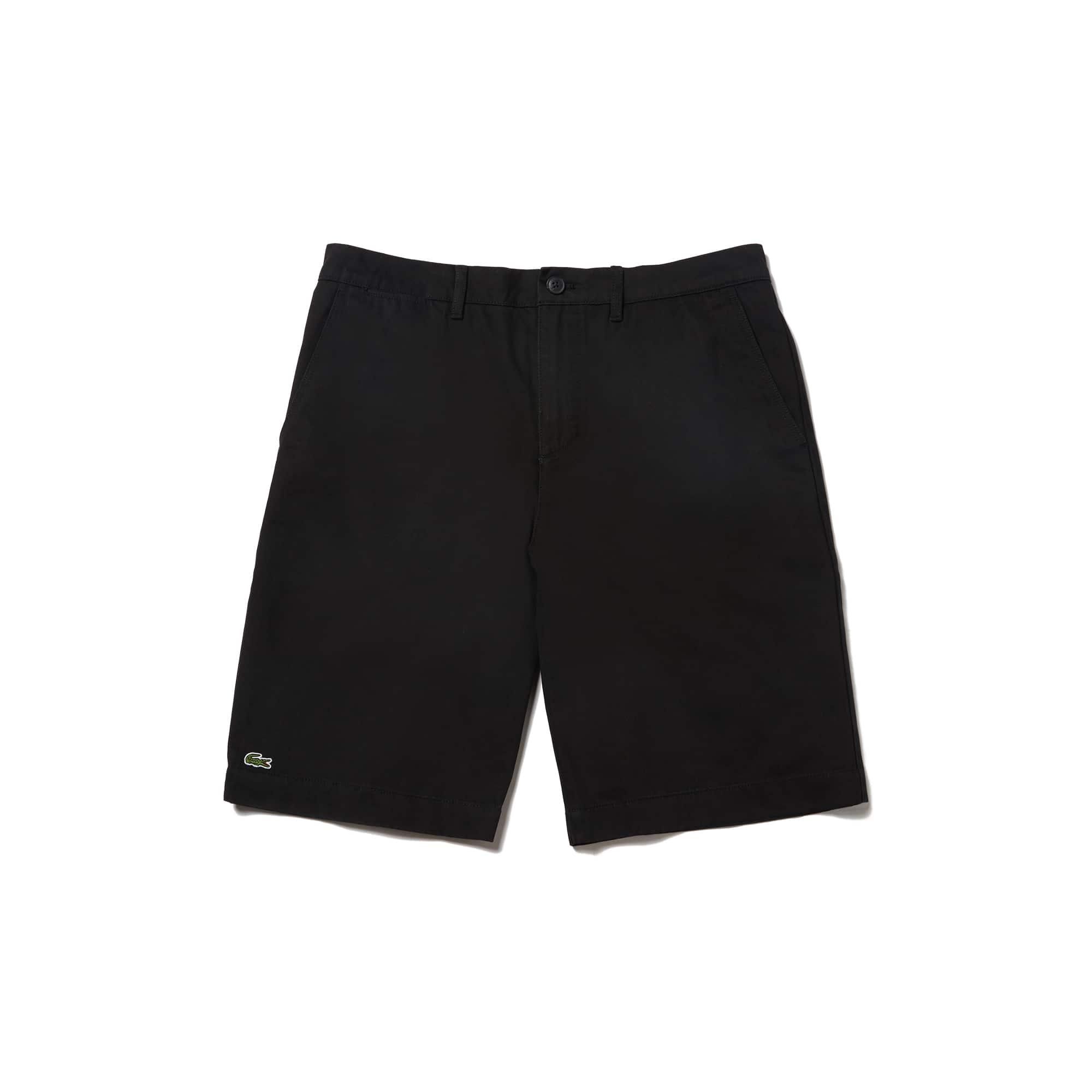 라코스테 Lacoste Mens Regular Fit Bermuda Shorts,black