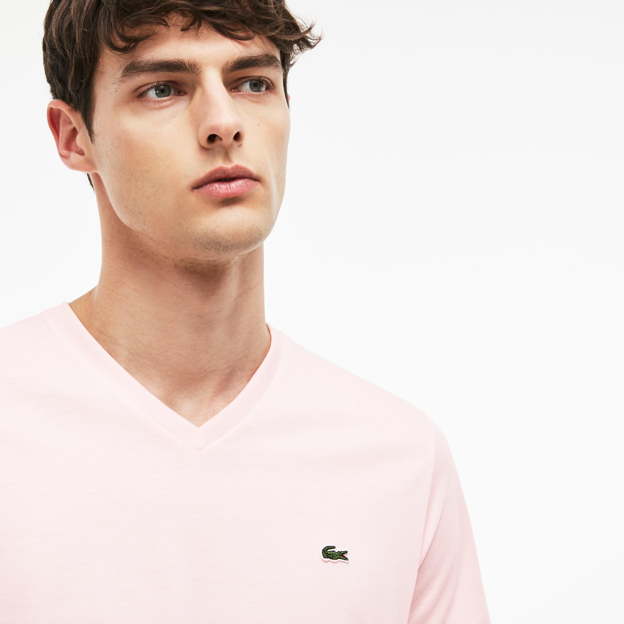 b4f771af Men's V-neck Pima Cotton Jersey T-shirt