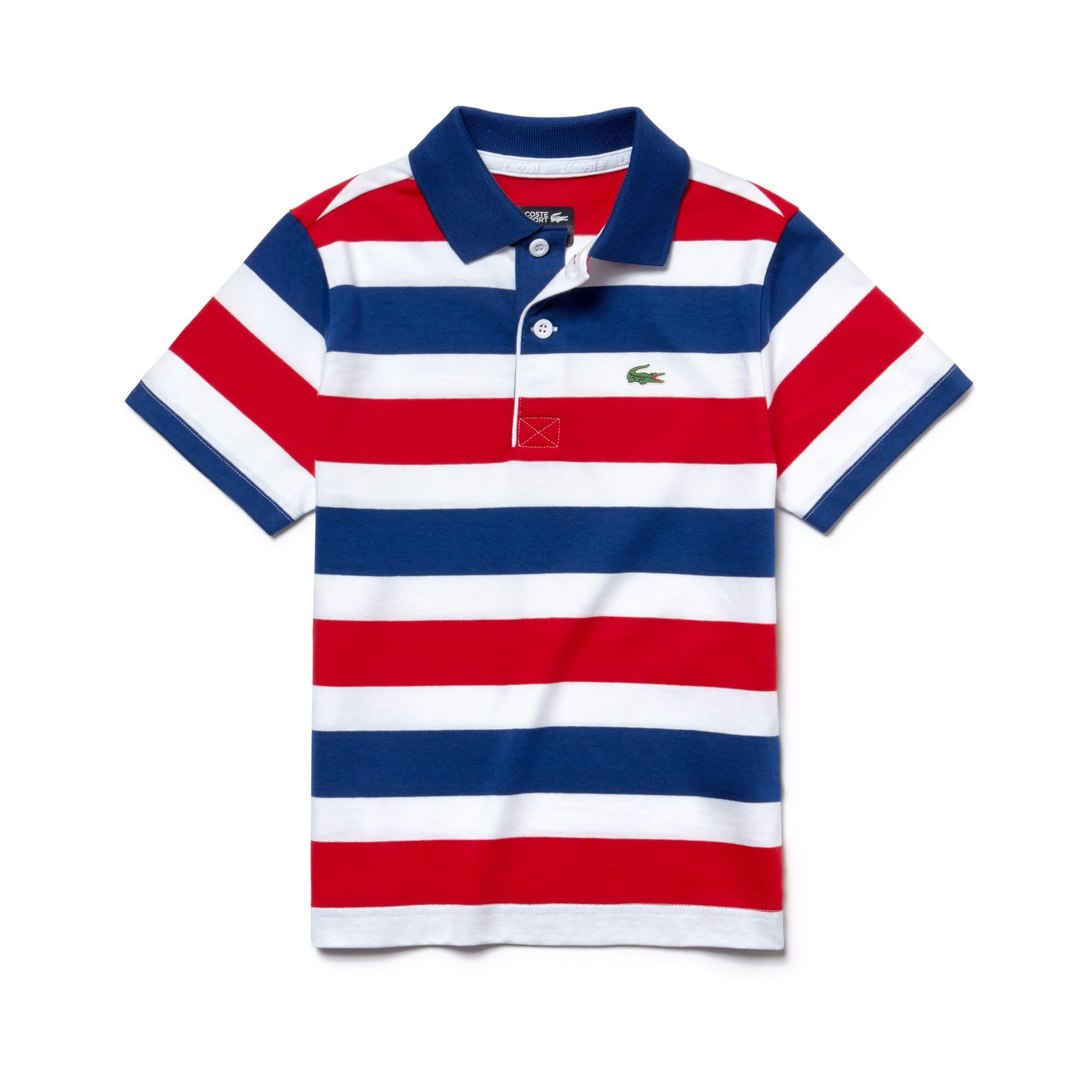cb9e8e3160f378 Boys  SPORT Striped Cotton Tennis Polo
