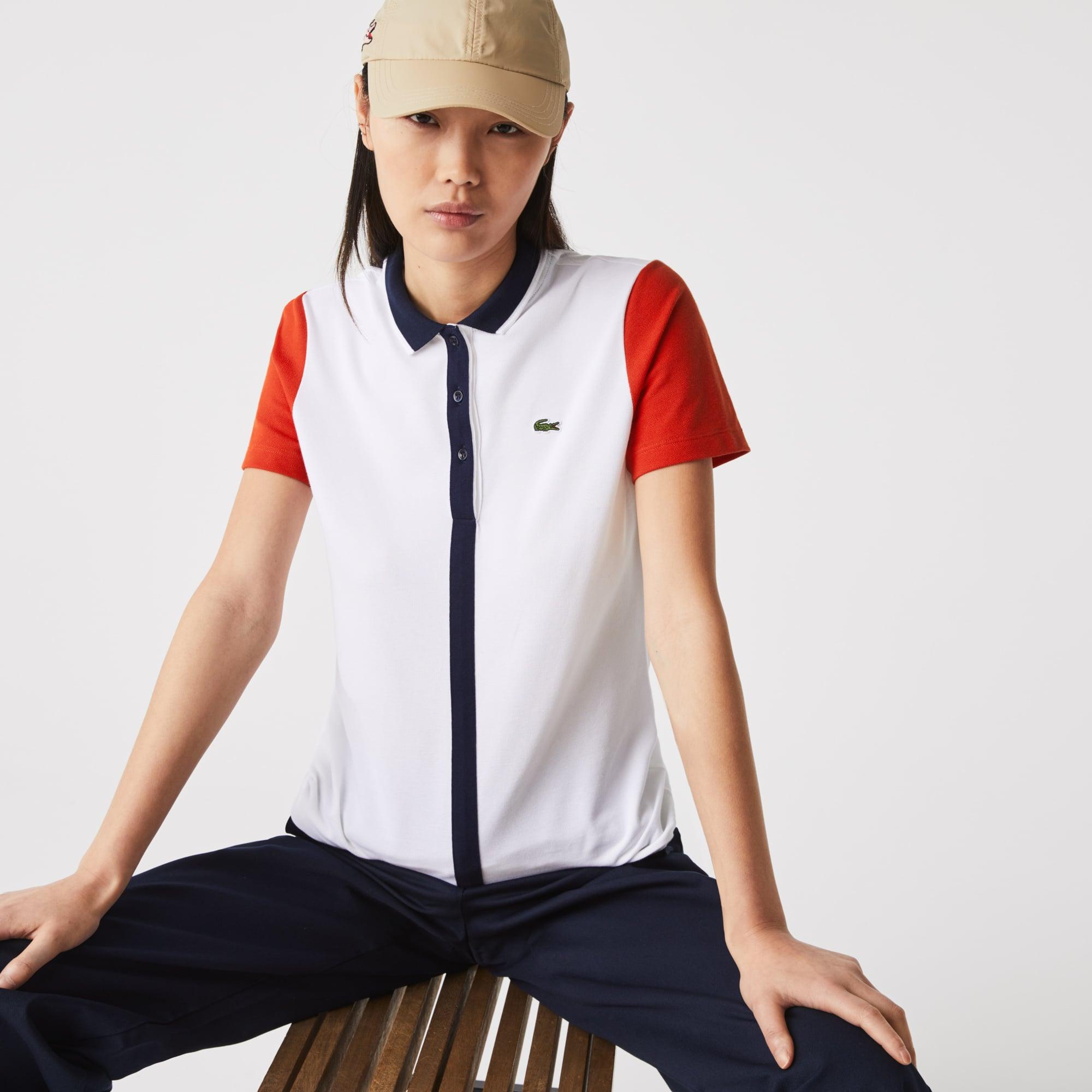 Lacoste Womens SPORT Roland Garros Color-Block Polo Shirt