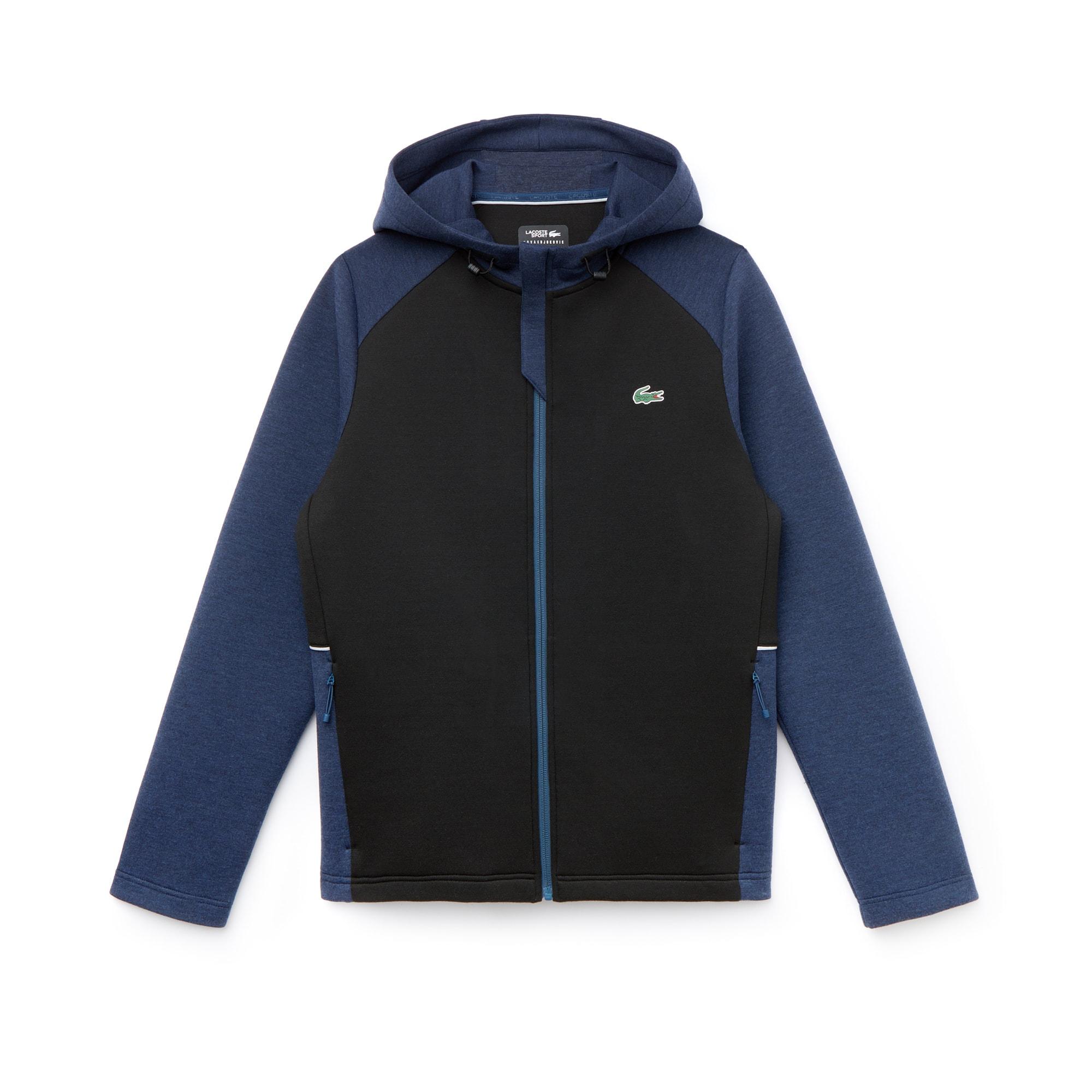Men's SPORT Bicolor Technical Midlayer Hooded Zip Sweatshirt -  x Novak Djokovic Off Court Premium Edition