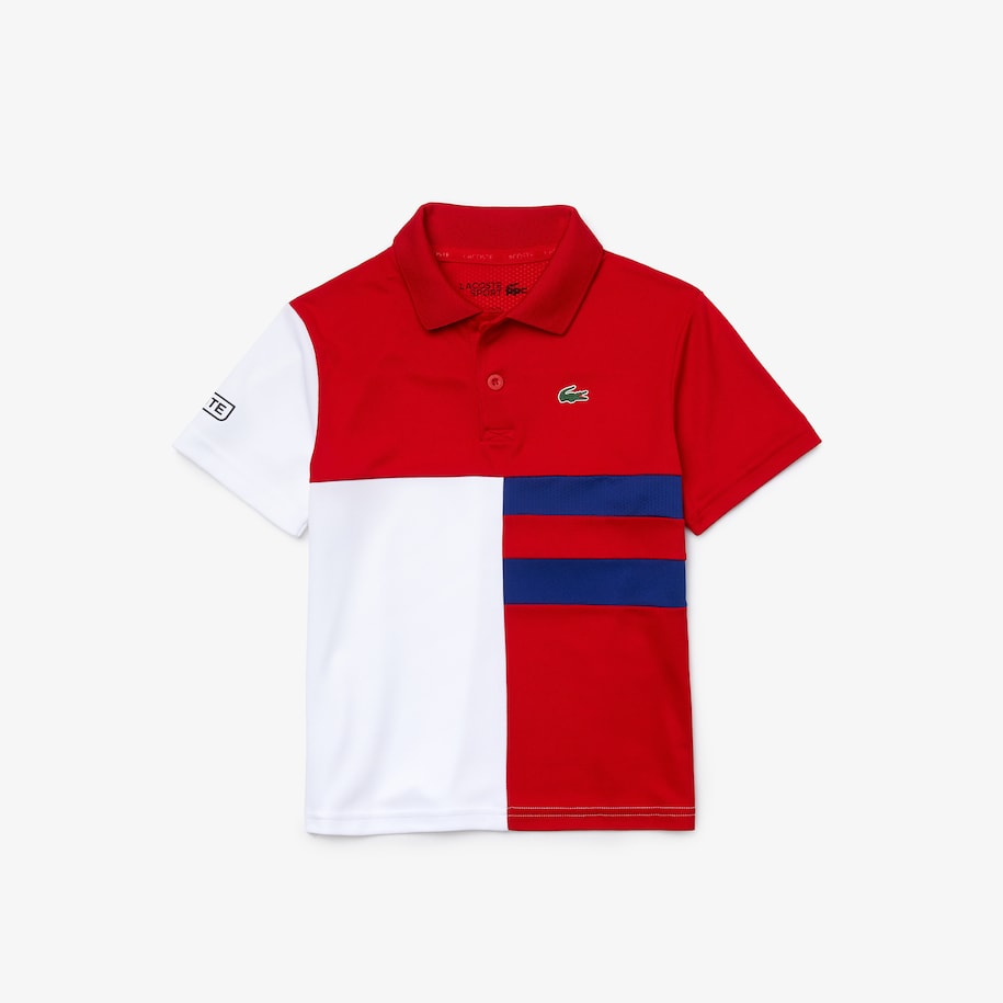 Boys' SPORT Colorblock Breathable Piqué Tennis Polo Shirt
