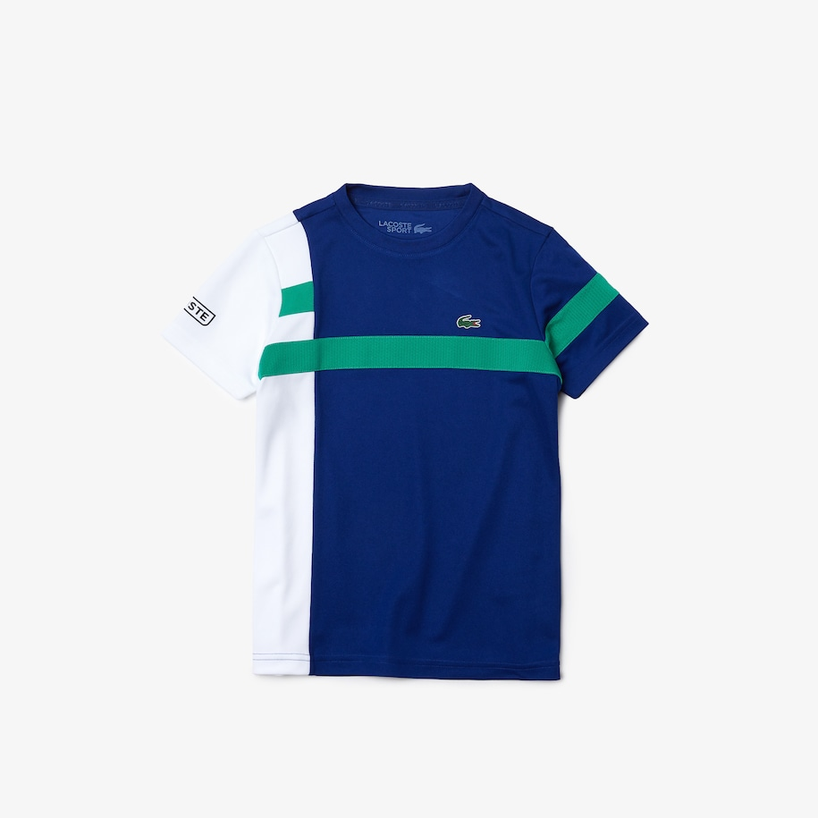 Boys' SPORT Breathable Piqué Colorblock T-shirt