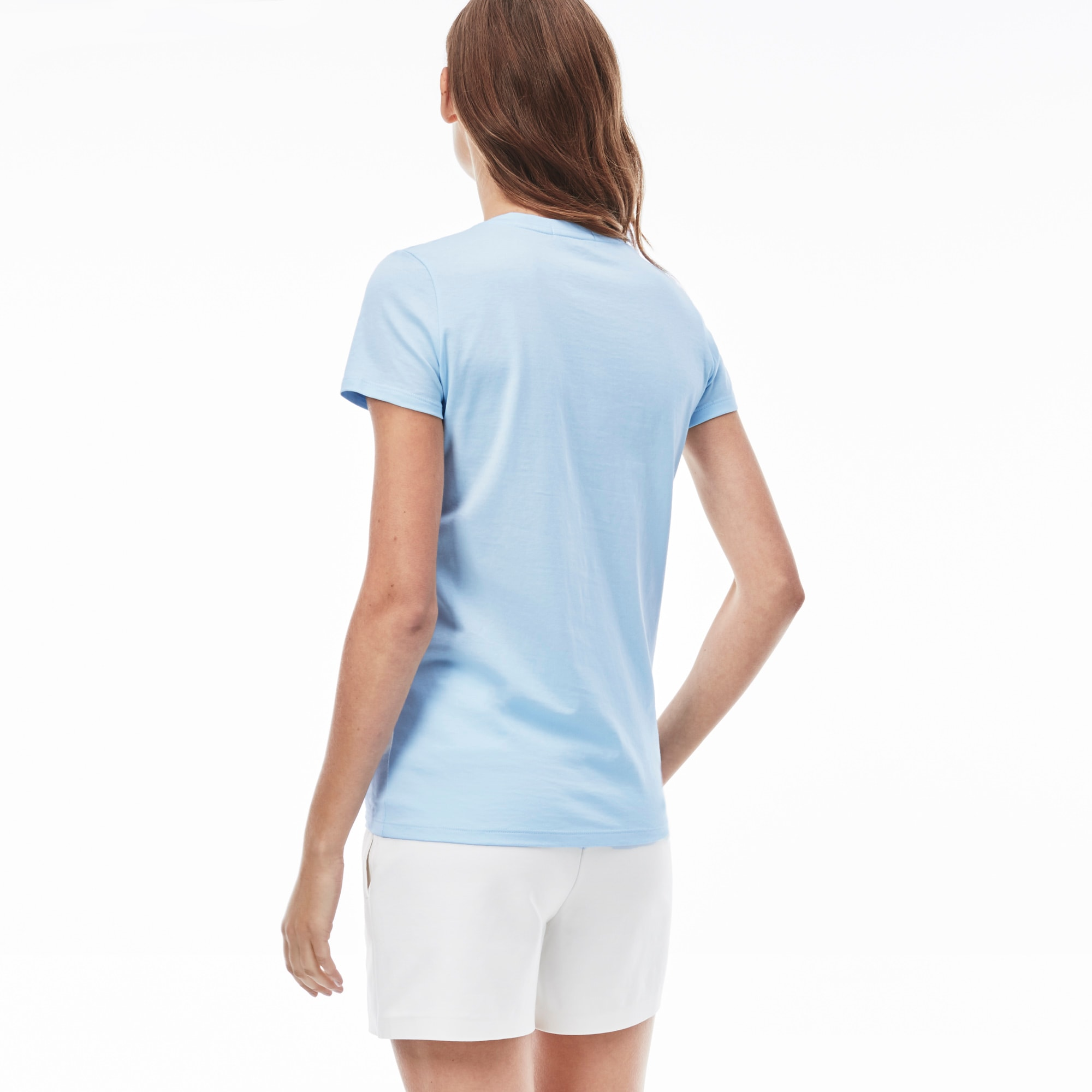 Women's V-neck t-shirt in soft jersey