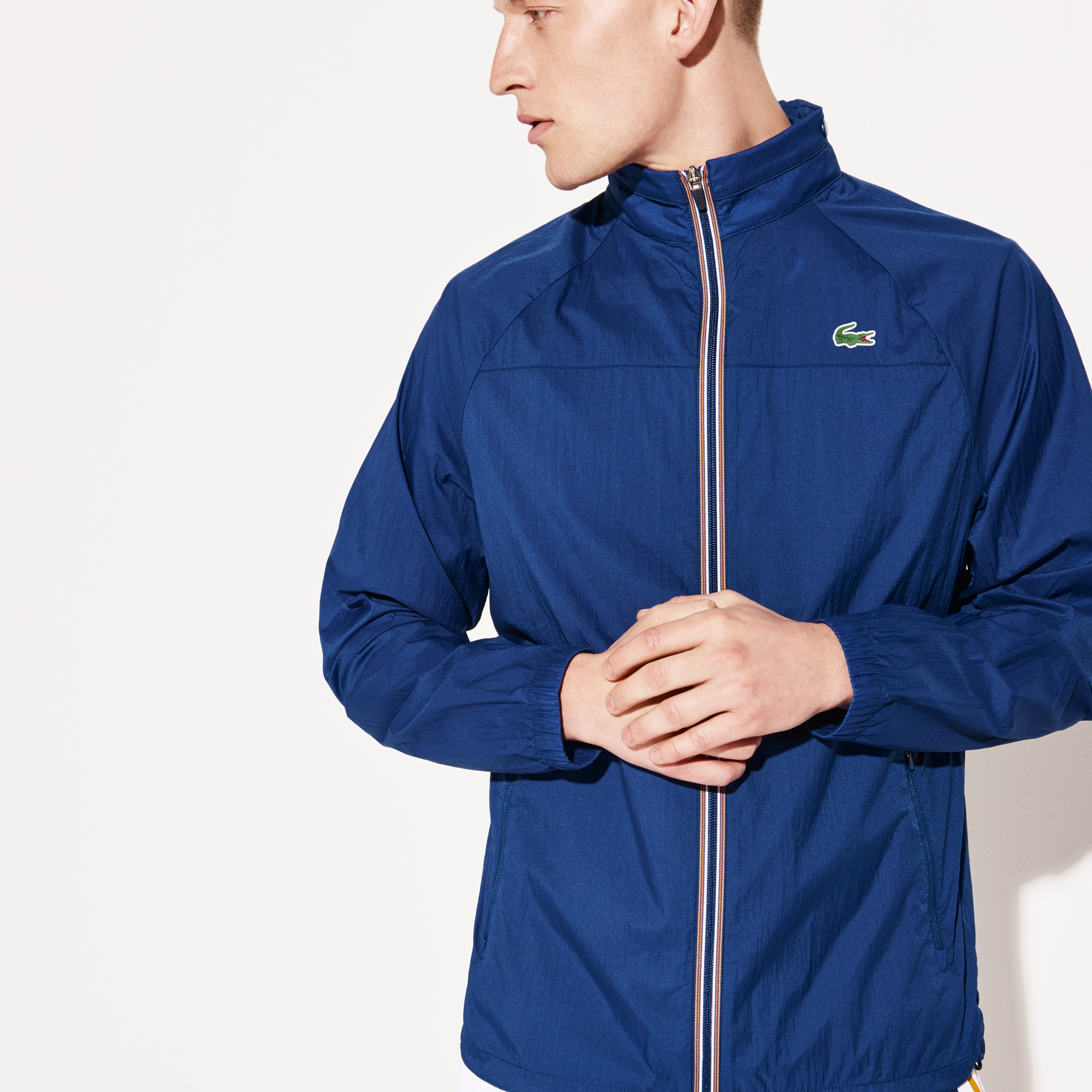 Men's SPORT Concealed Hood Tech Tennis Windbreaker