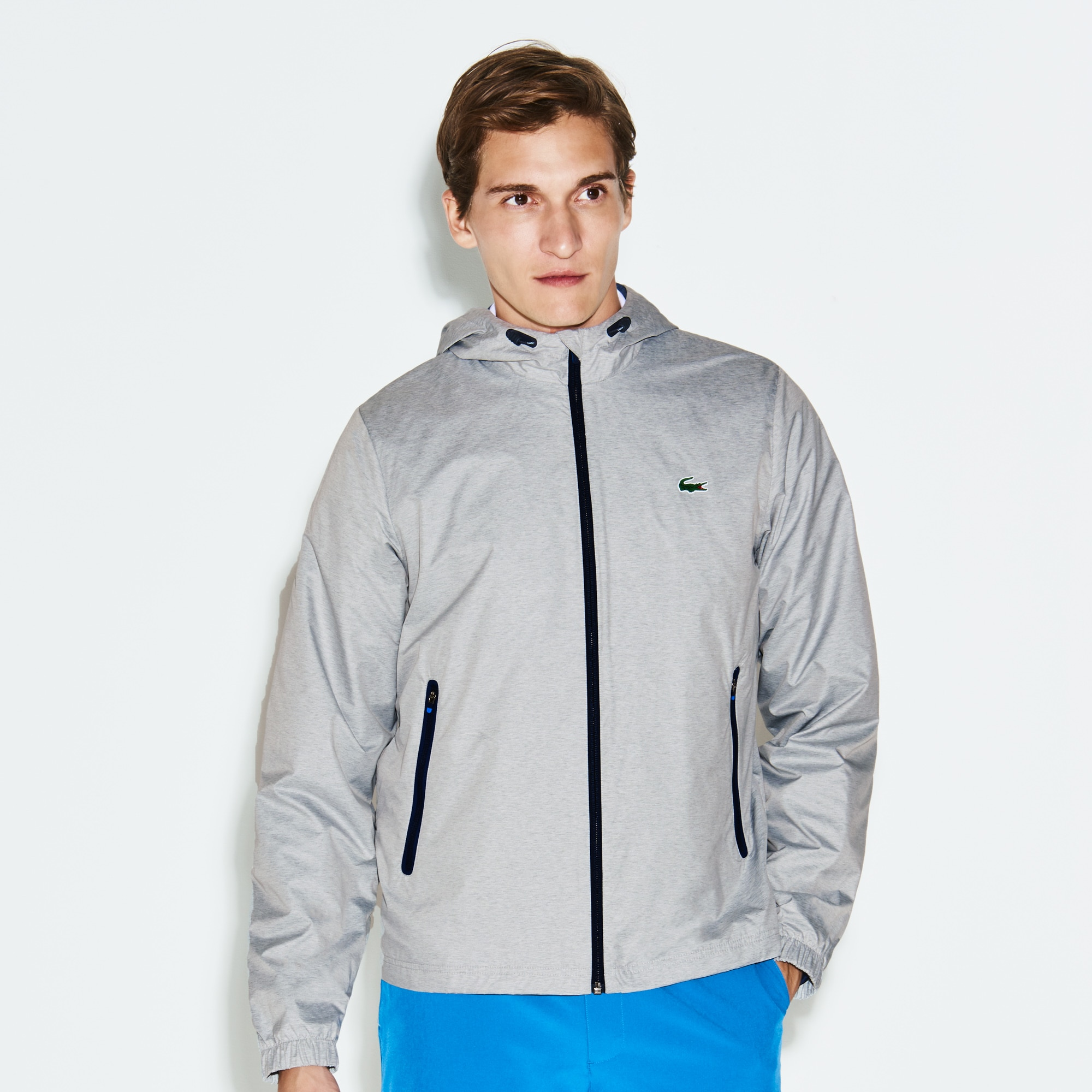 Men's SPORT Metallic Technical Taffeta Zip Golf Jacket