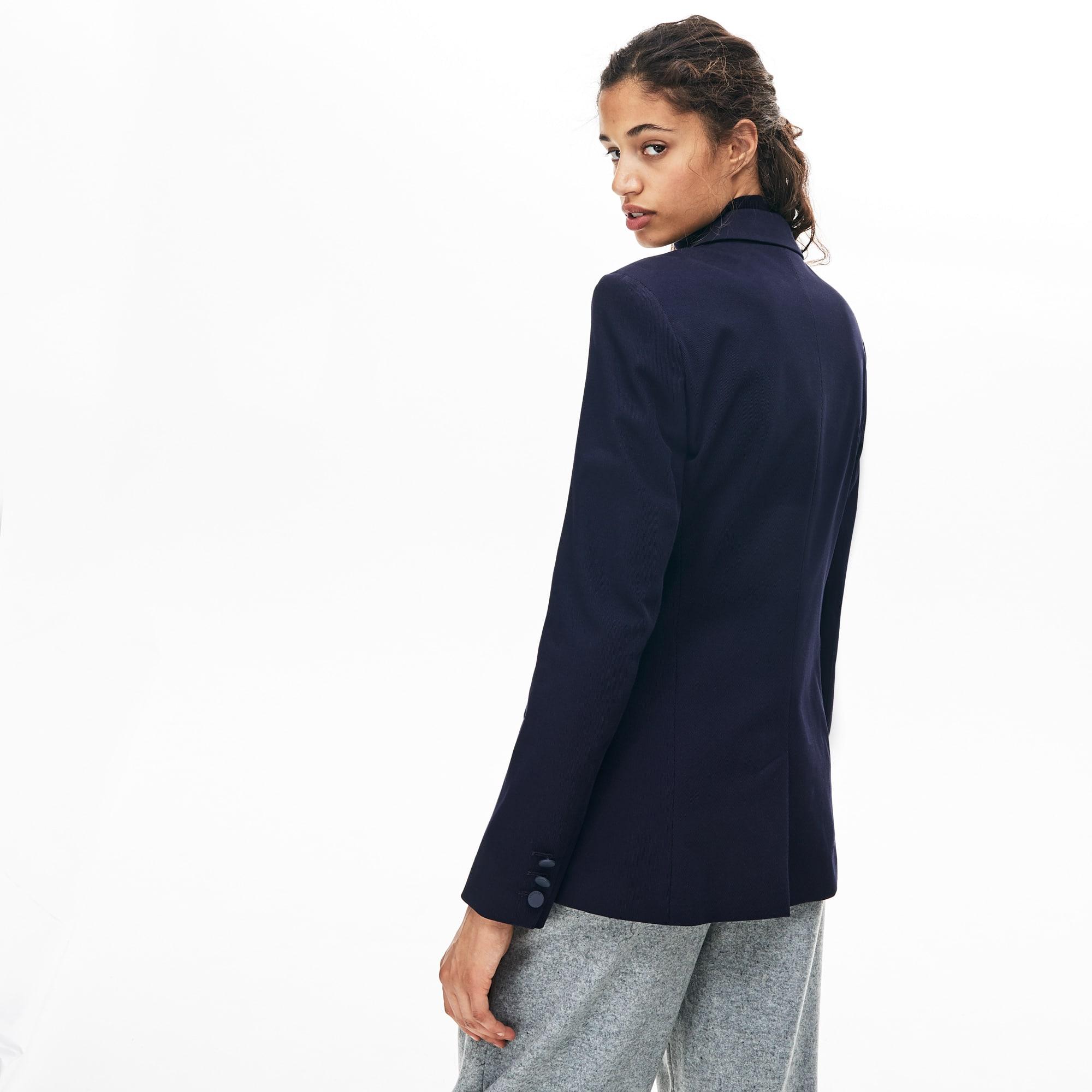 gran venta 57c87 b1bca Blazer ajustado en algodón stretch para mujer