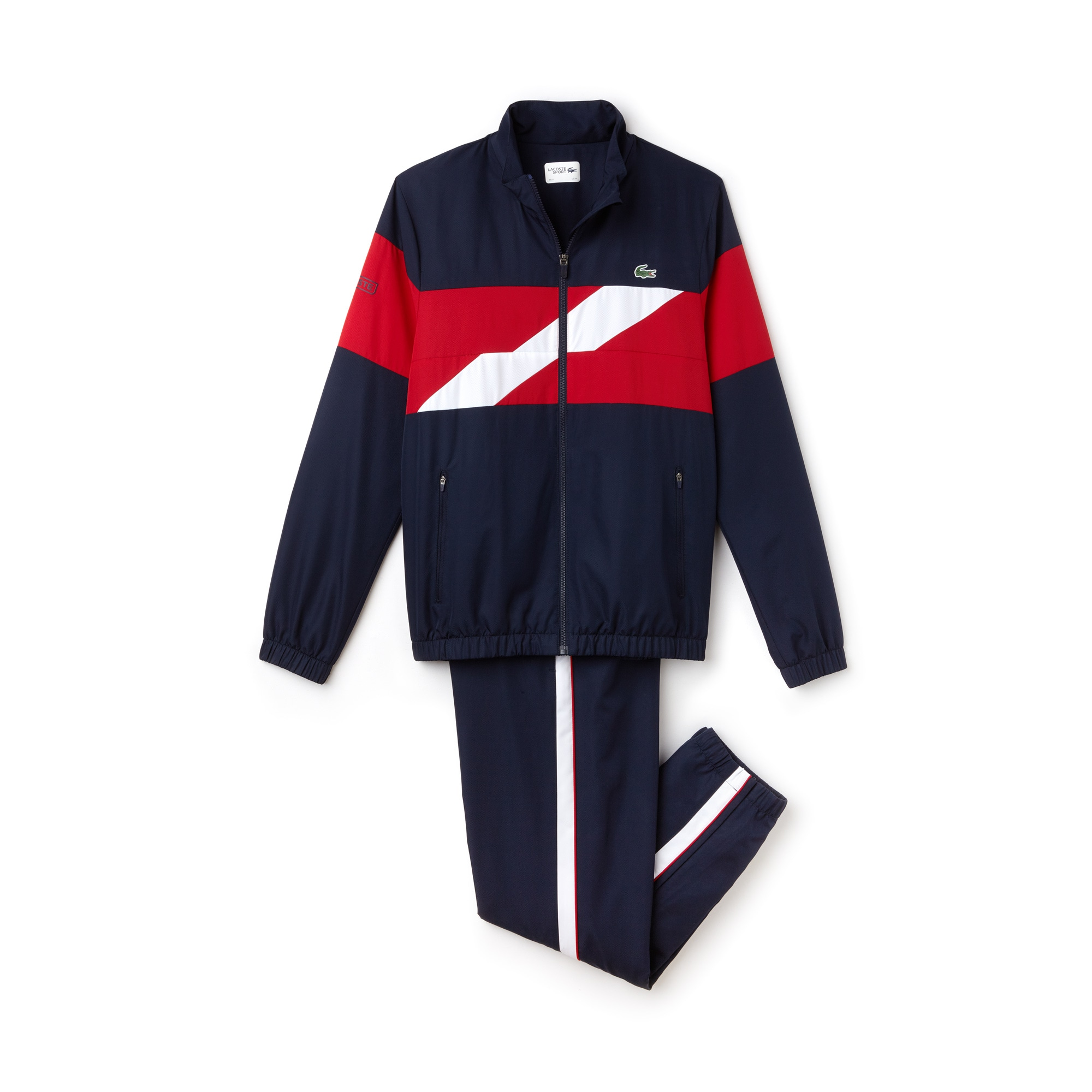 Men's SPORT coloured Bands Taffeta Tennis Tracksuit