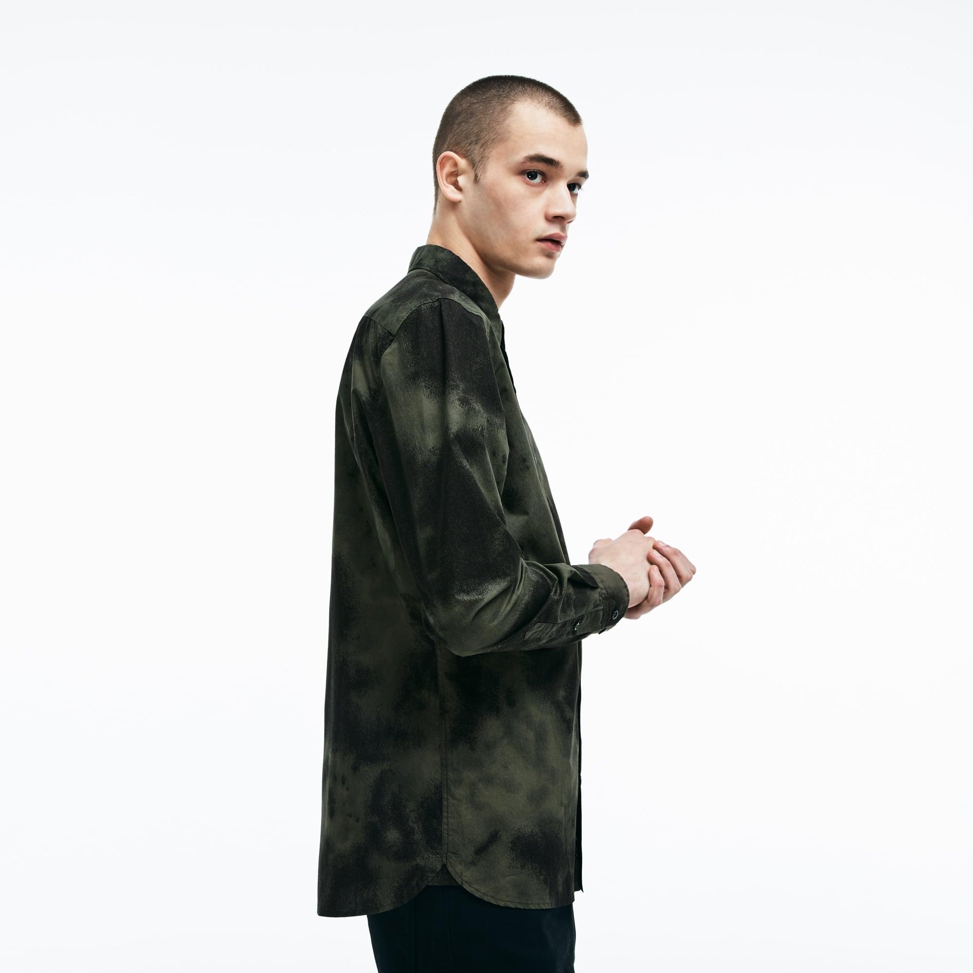 Men's LIVE Skinny Fit Cloud Print Poplin Shirt