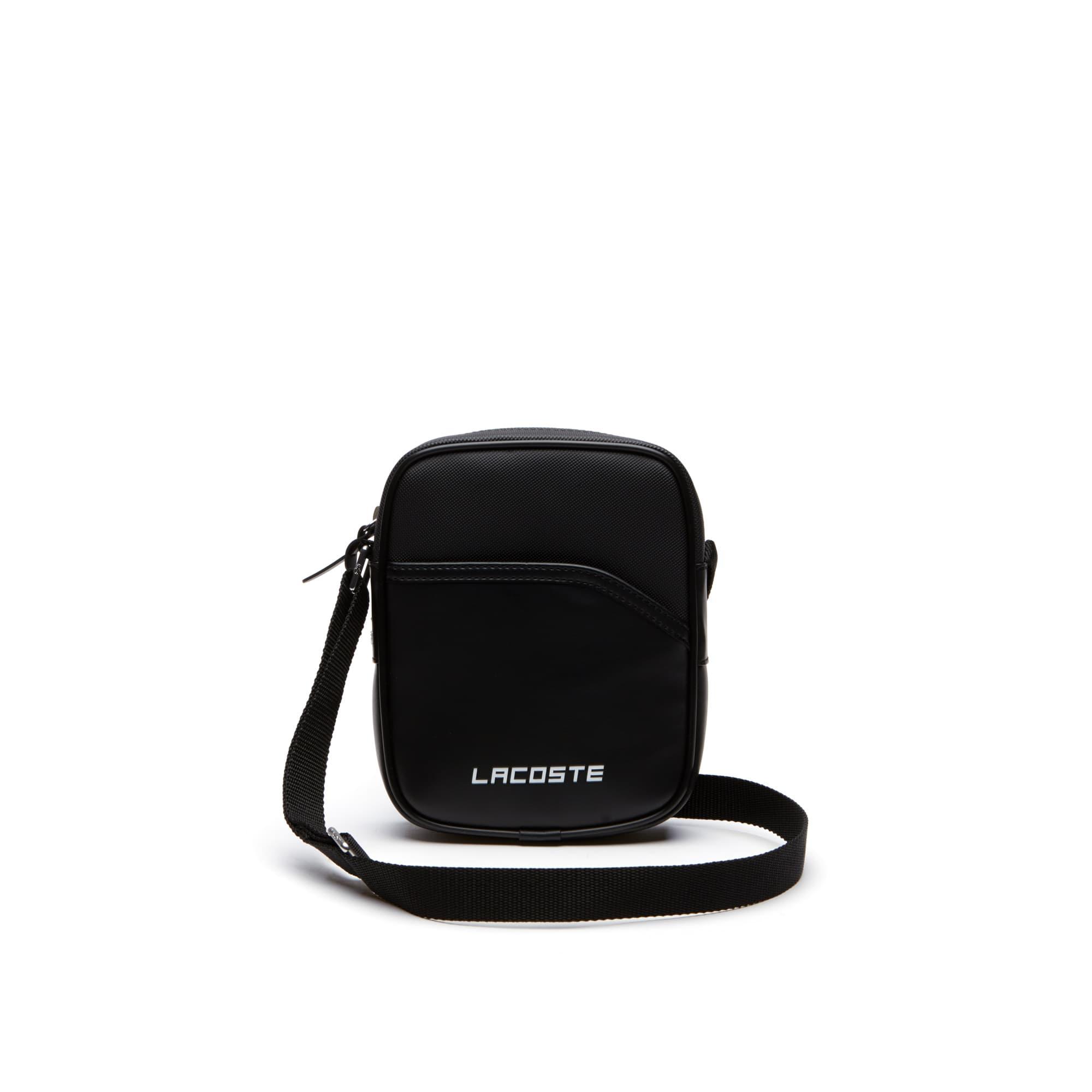 Mens 라코스테 Lacoste SPORT Ultimum 라코스테 Lacoste Lettering Vertical Bag,BLACK