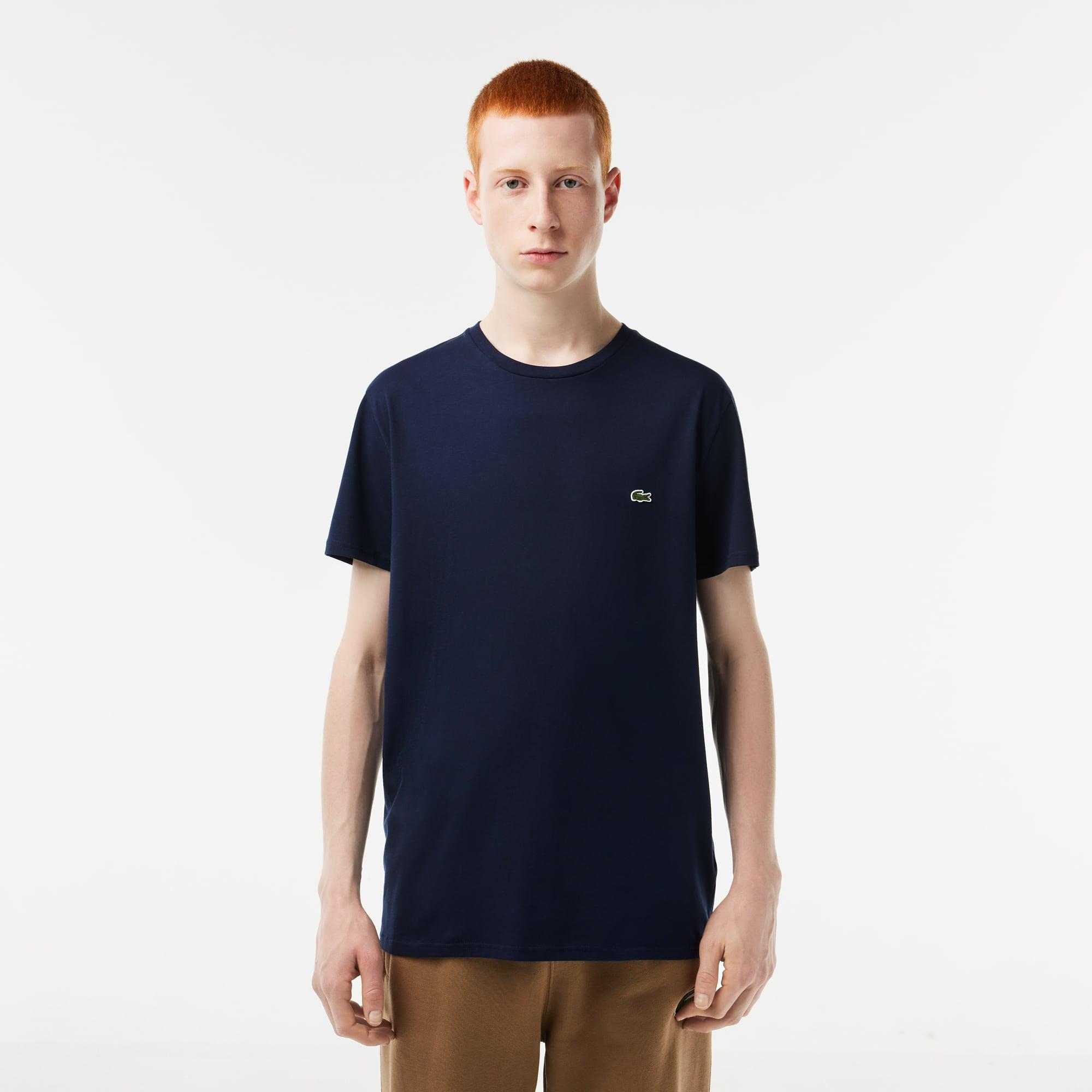 7923a7d5e7 T-shirt col rond en jersey de coton pima uni. C$ 65.00 65.00 CAD.  Commenter. Couleur : Bleu Marine