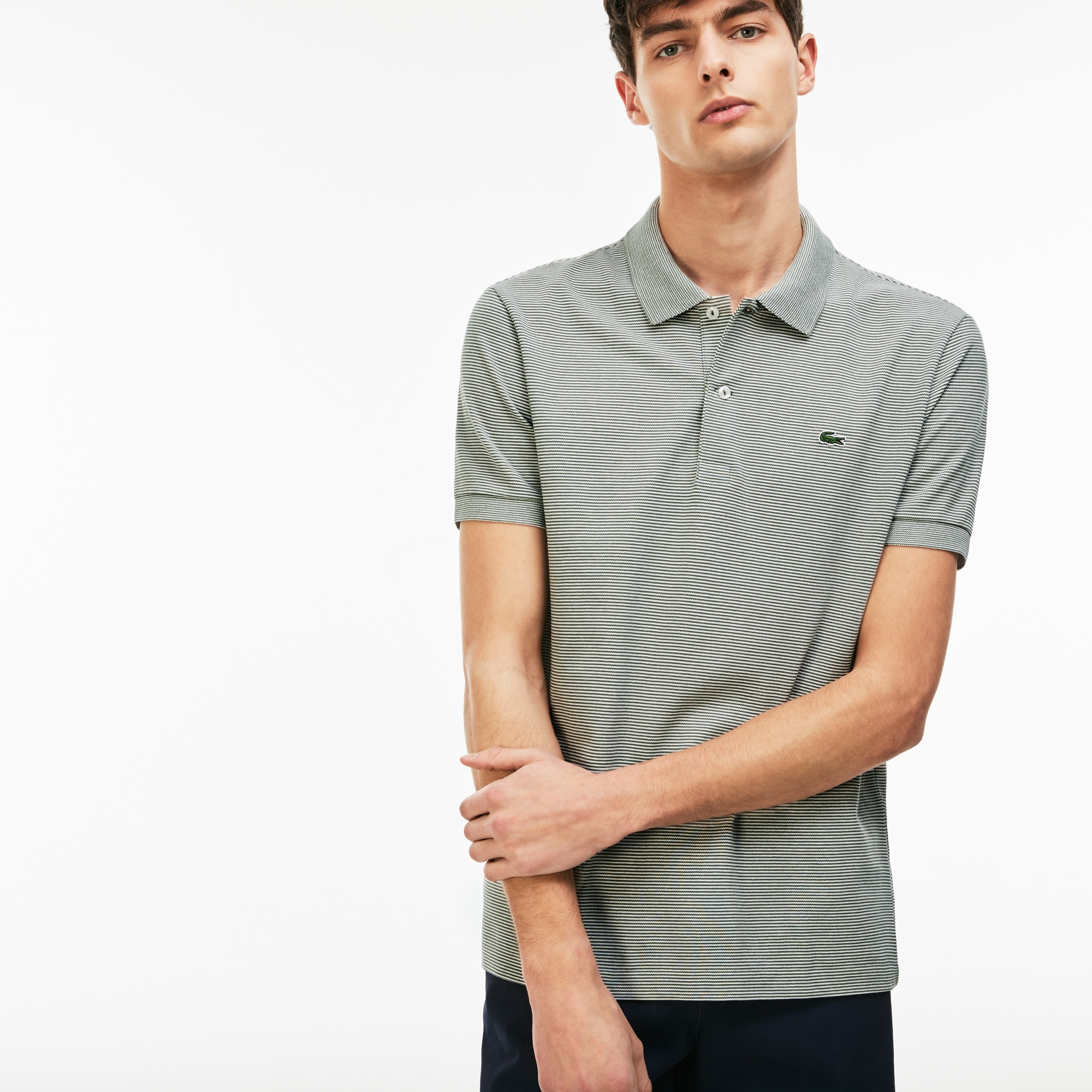 Men's Regular Fit Mini Piqué Polo