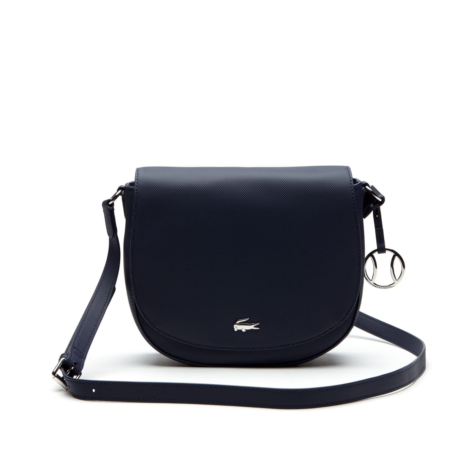 Women's Daily Classic Fine Piqué Grains Flap Crossover Bag