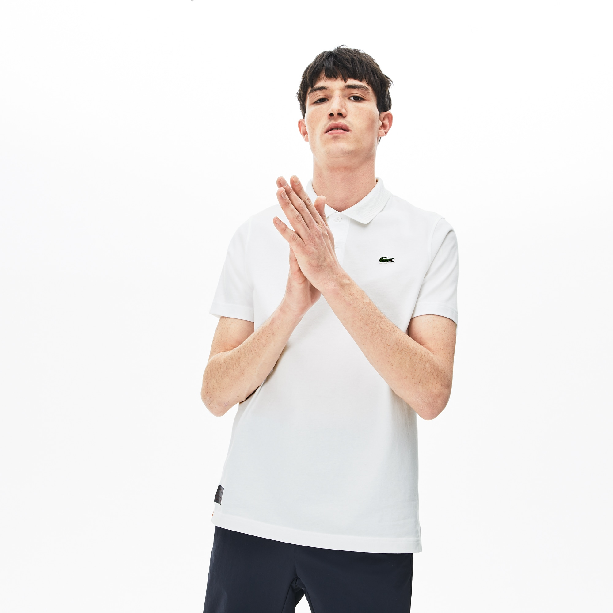 Lacoste Tops Men's SPORT Silicone Badge Cotton Jersey Polo
