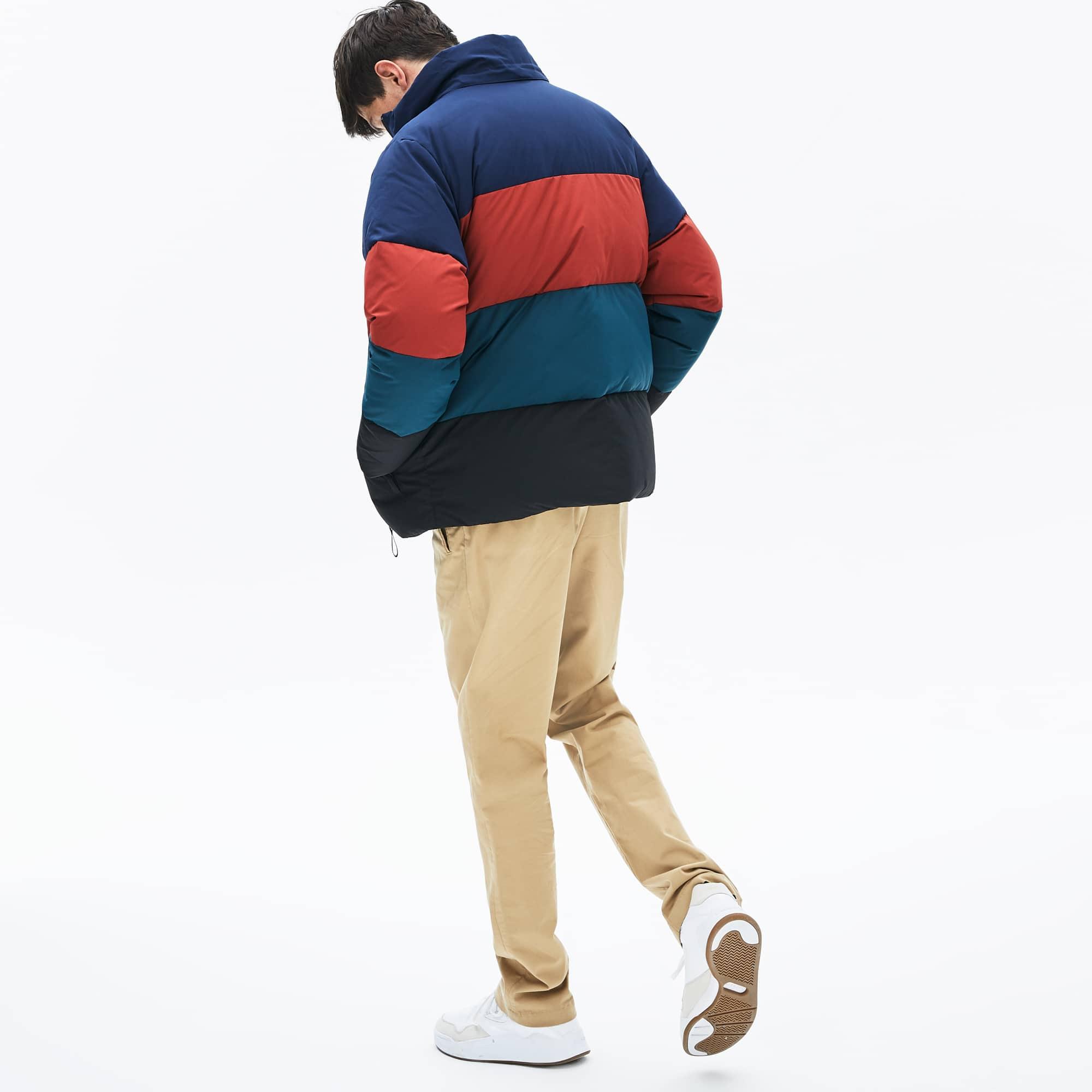 Men's Detachable Hood Quilted Water-Resistant Taffeta Jacket