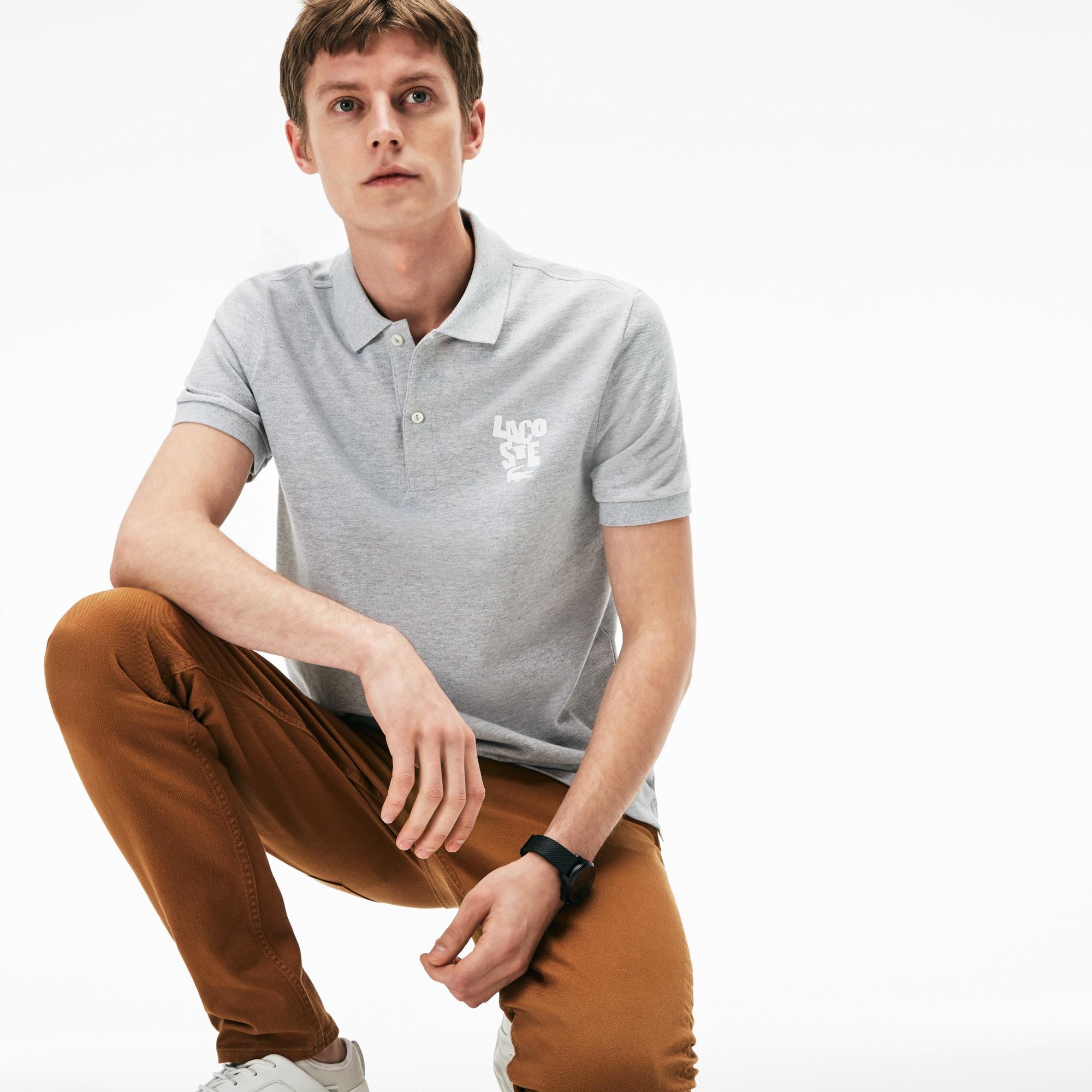 Men's Regular Fit Lacoste Lettering Piqué Polo
