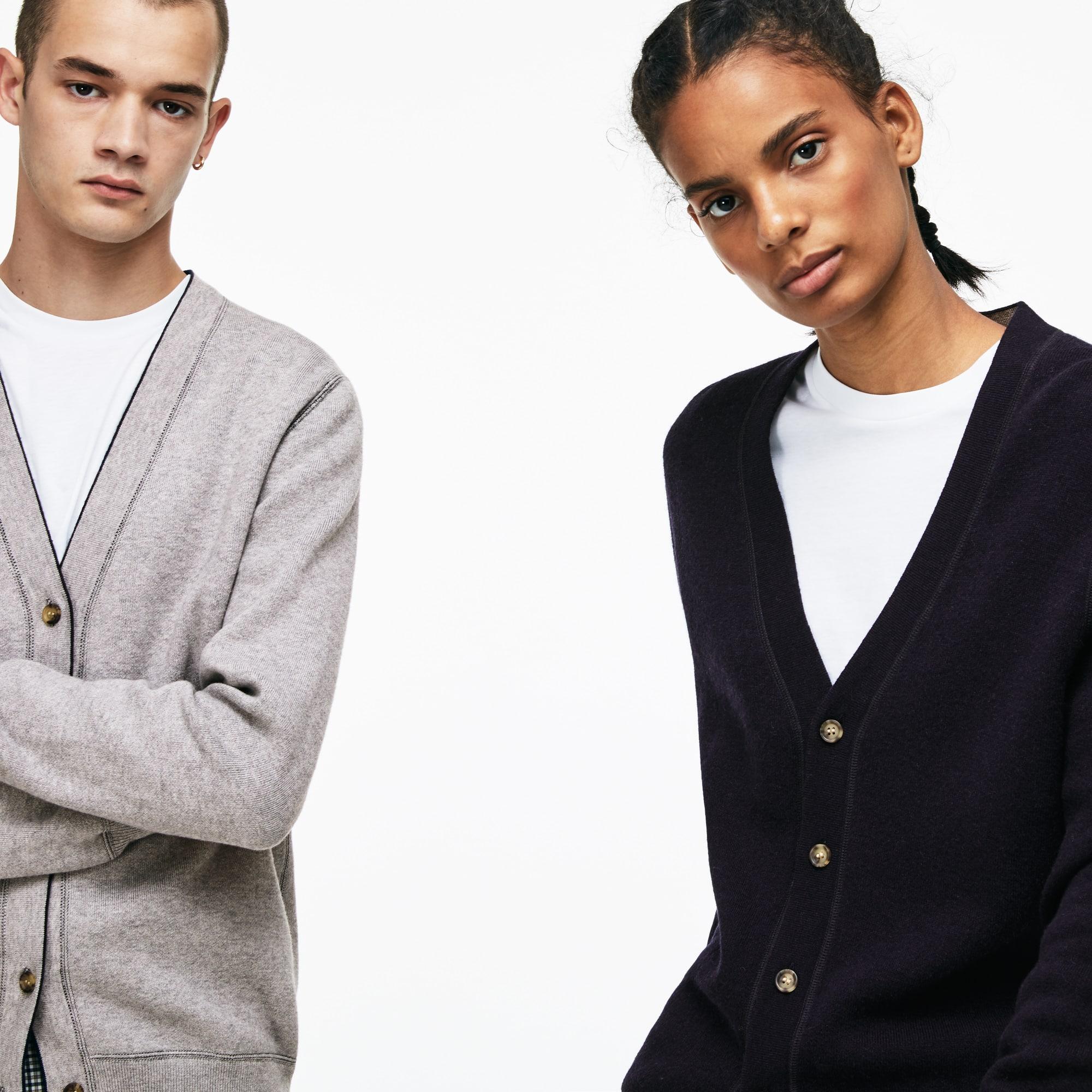 Unisex LIVE Reversible Wool Jersey Cardigan