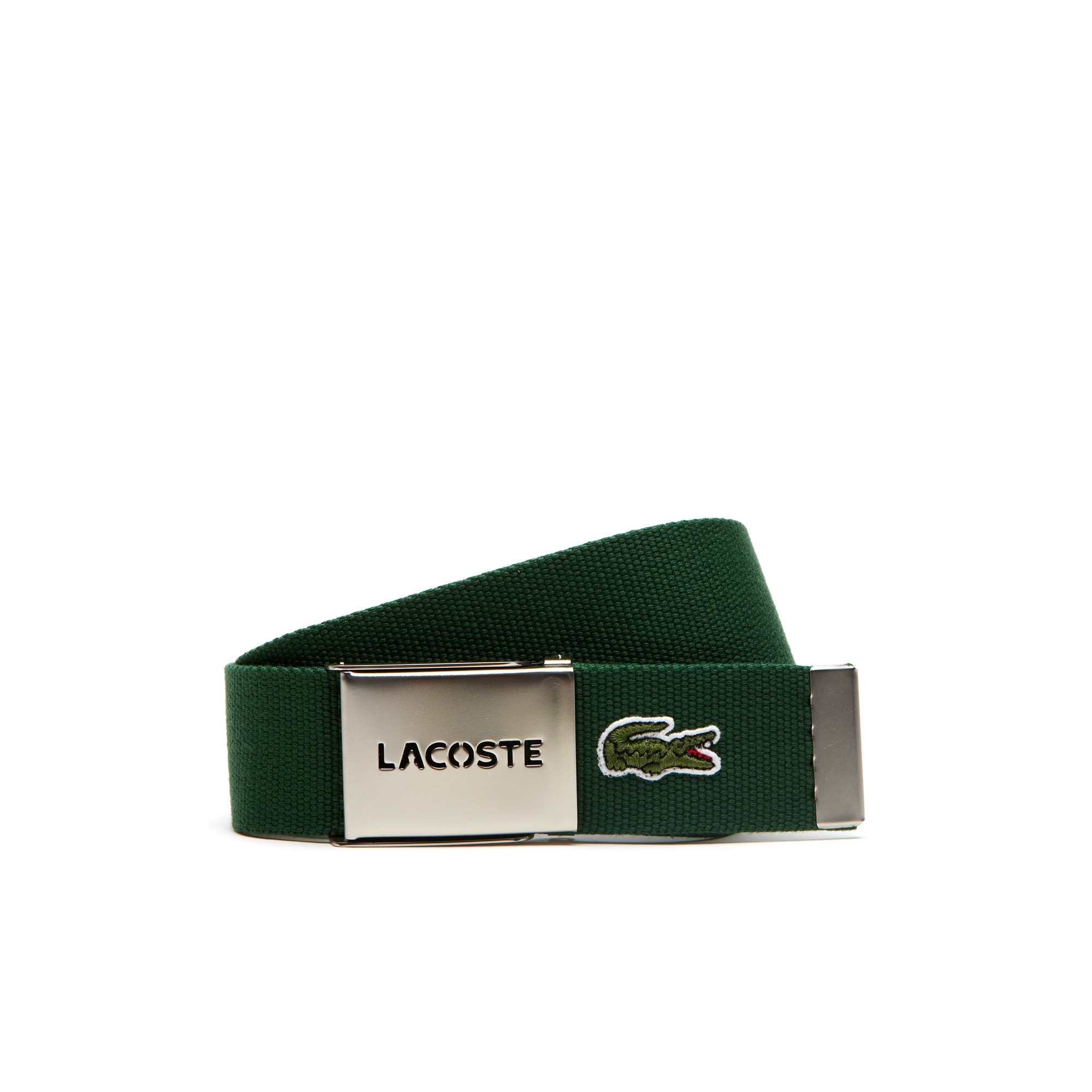 Men's L.12.12 Textile Signature Croc Logo Belt