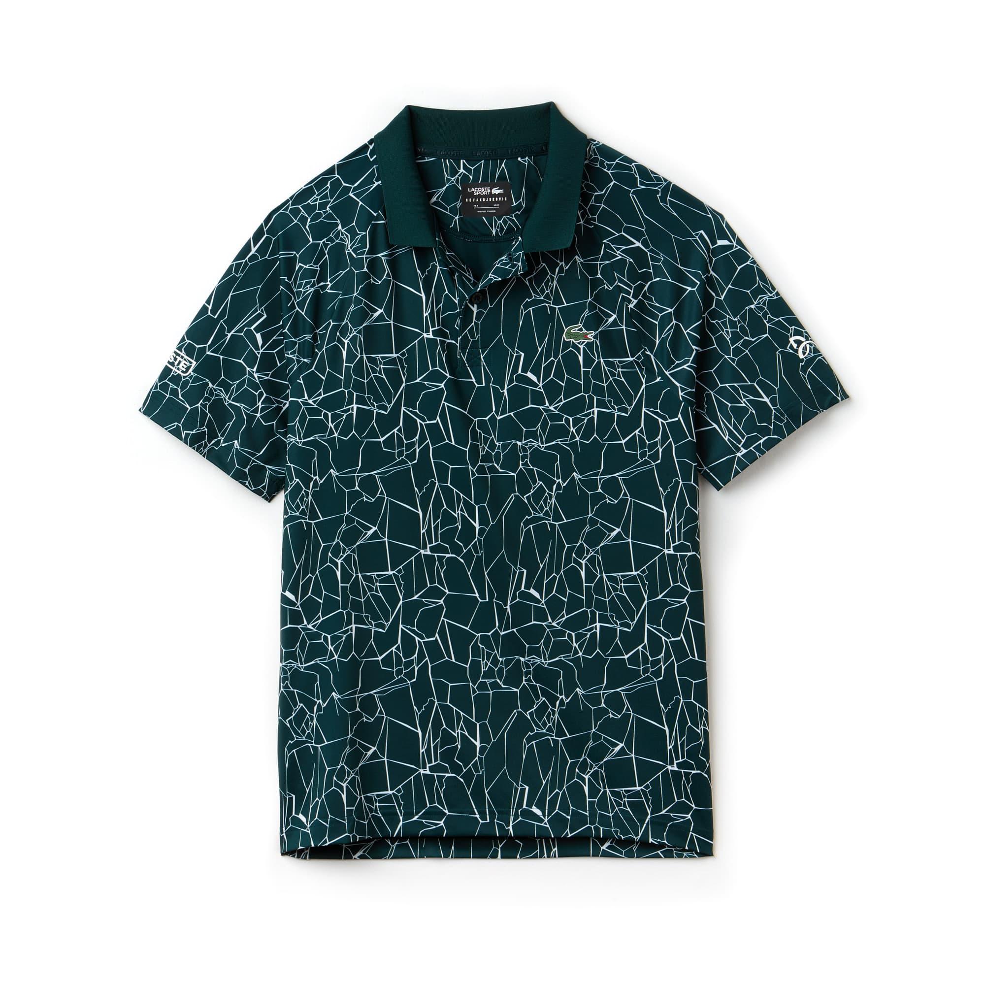 라코스테 Lacoste Mens SPORT Print Technical Jersey Polo - x Novak Djokovic On Court Premium Edition,box/white